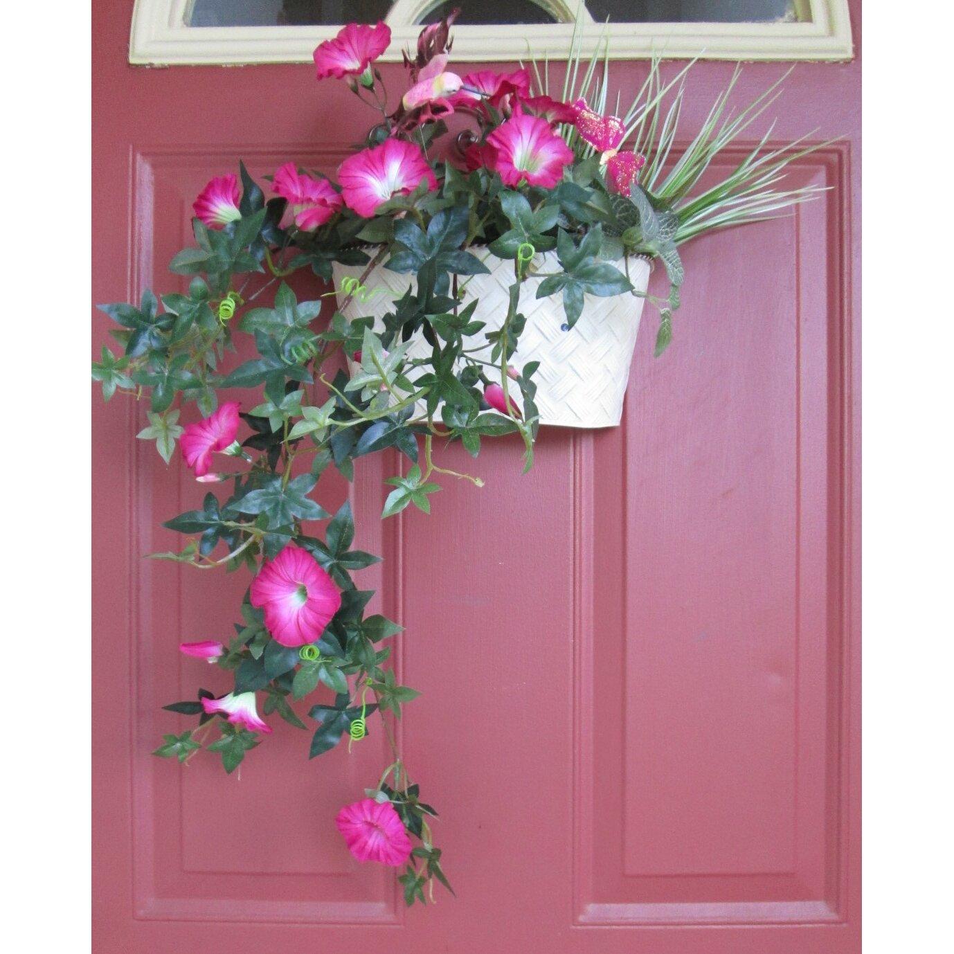 Silkmama September Birth Month Flower Morning Glory Beauty Arrangement &