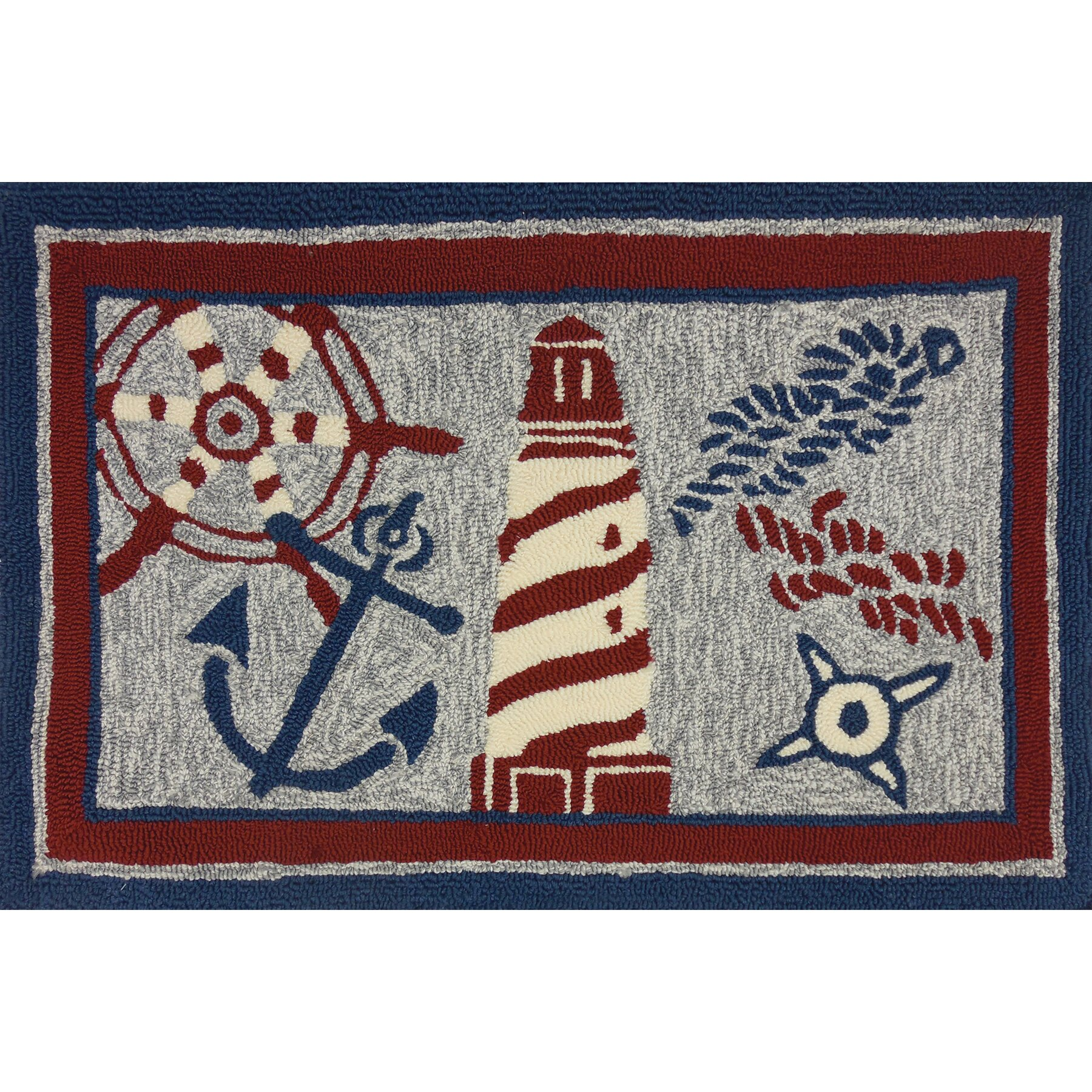 Nautical Elements Multi Indoor Outdoor Area Rug