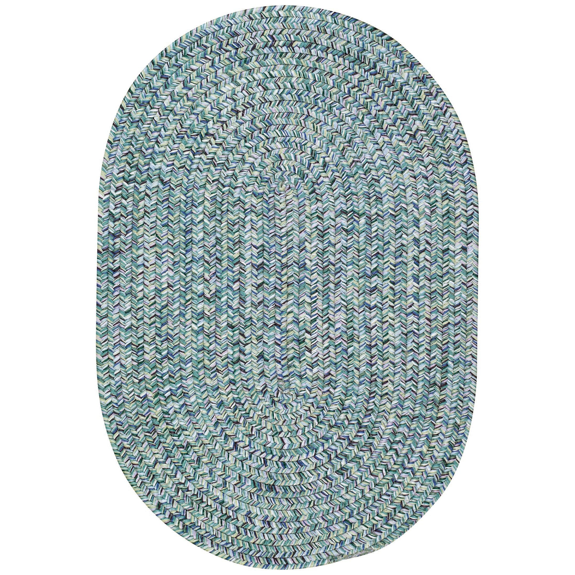 Capel Sea Pottery Blue Variegated Outdoor Area Rug