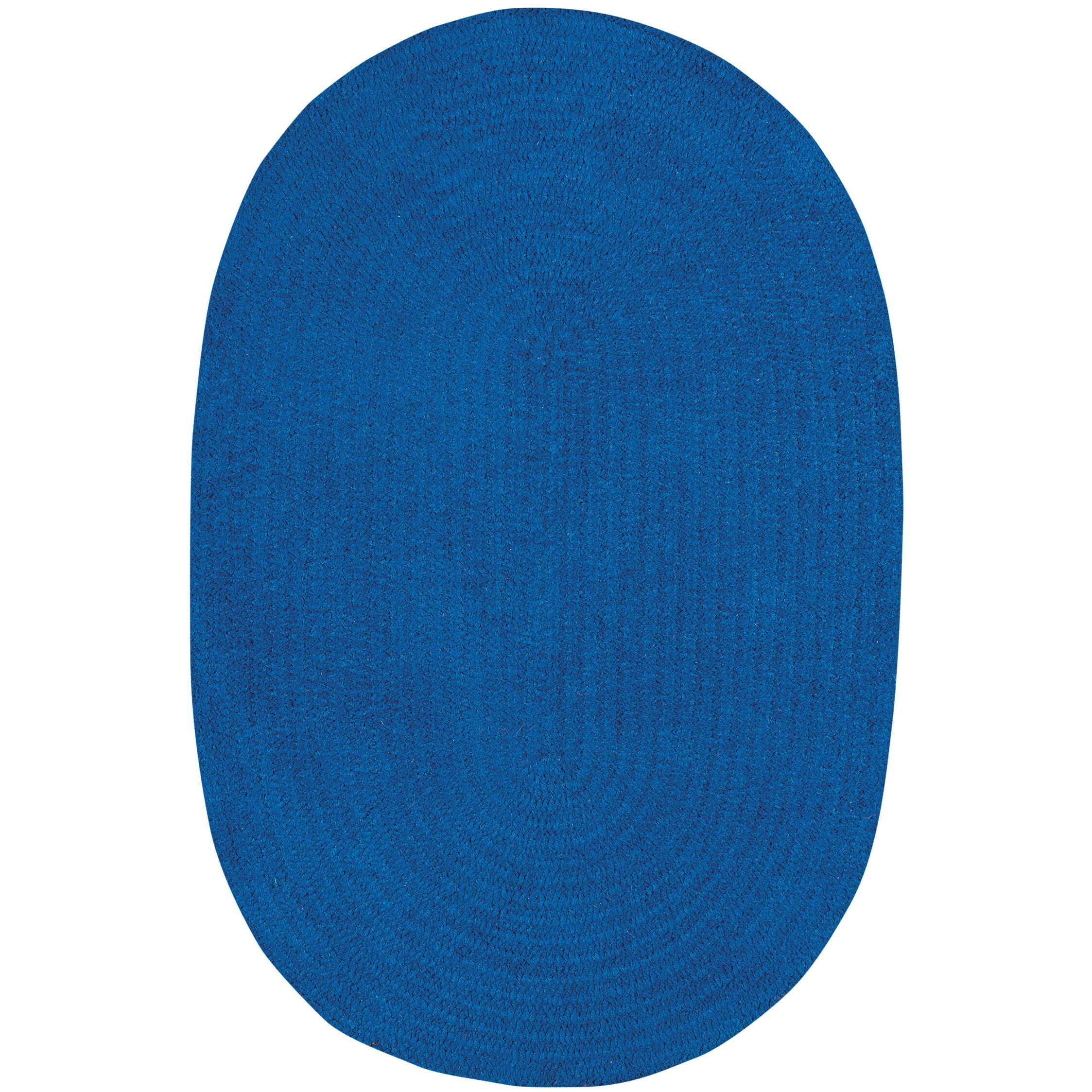 Capel Rugs Custom Classics Braided Royal Blue Area Rug