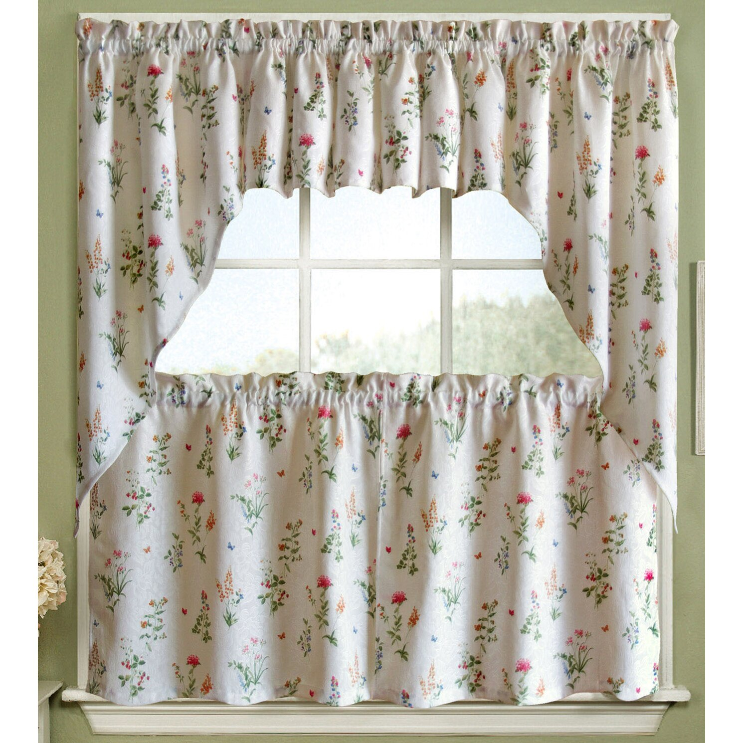 Http Www Wayfair Com English Garden Floral White Jacquard Kitchen Curtain Swag Swag 420 White Swet1648 Html