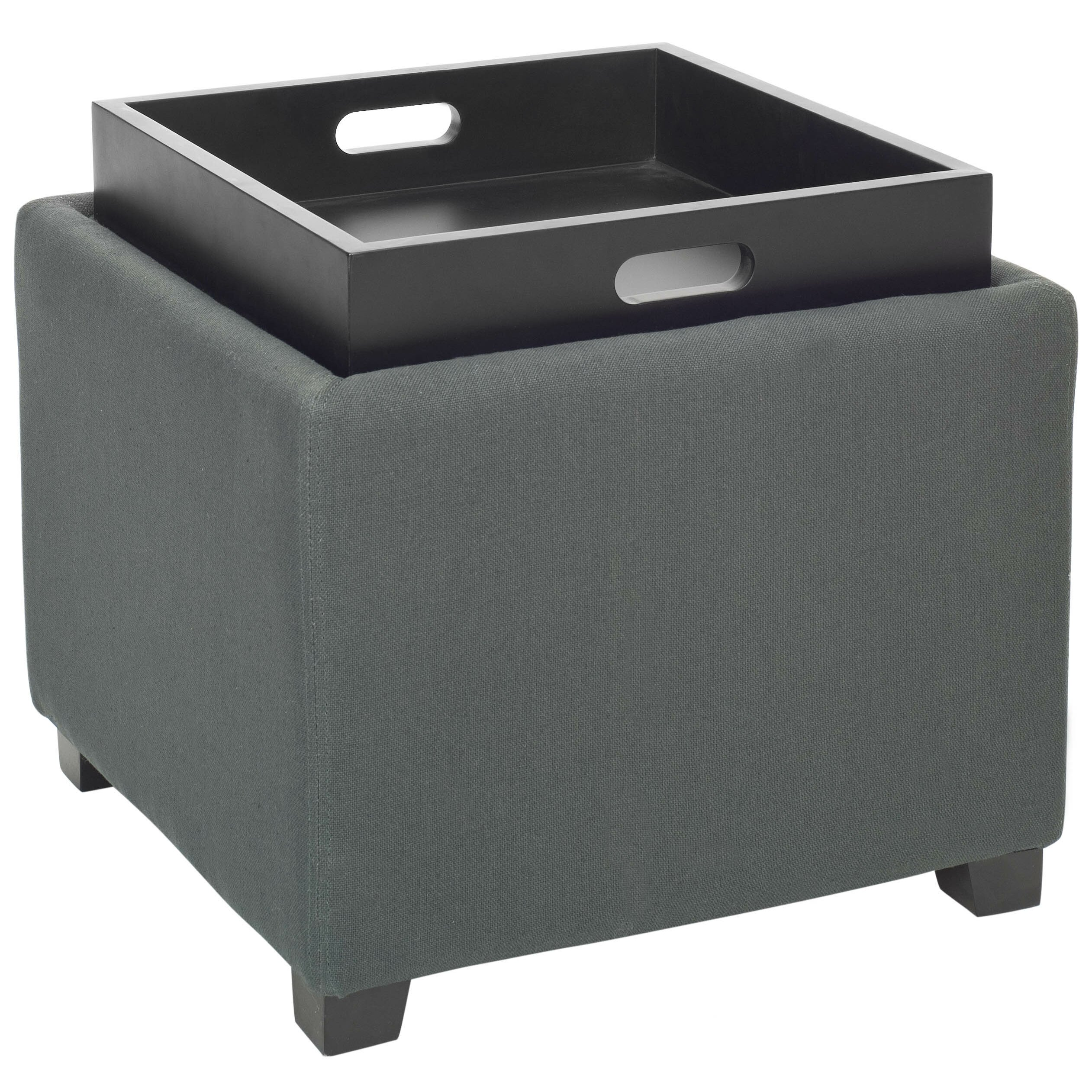 mercury row arambula storage tray ottoman reviews wayfair. Black Bedroom Furniture Sets. Home Design Ideas