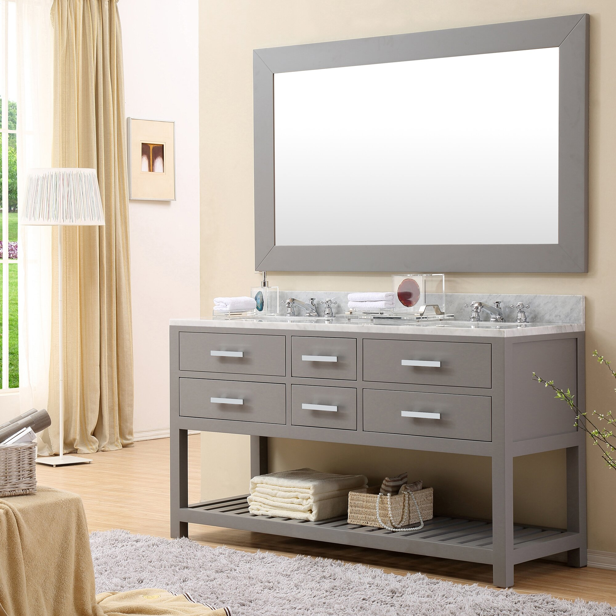 "Mercury Row Argos 60"" Double Sink Bathroom Vanity ..."