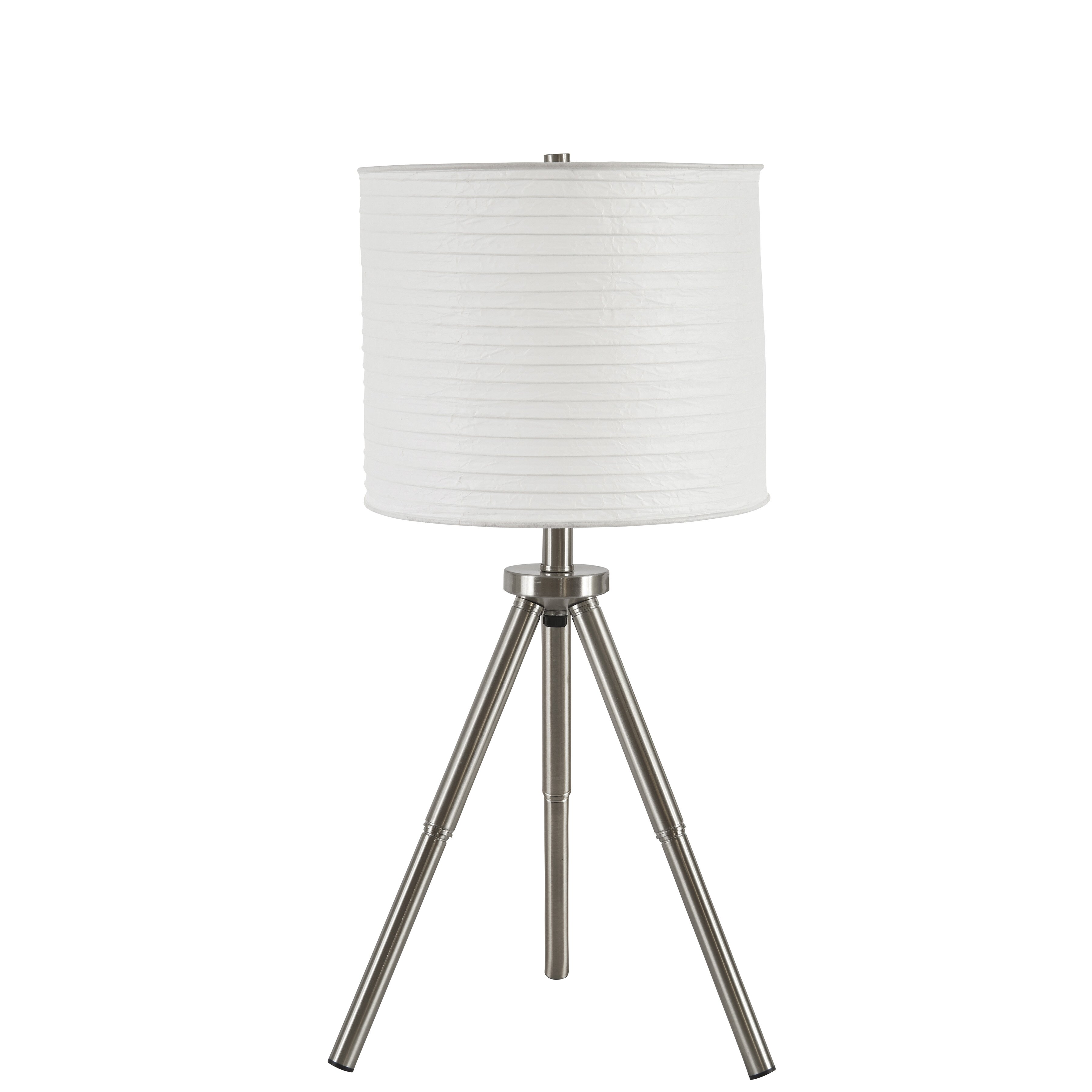 mercury row zephyranthe 24 h table lamp with drum shade. Black Bedroom Furniture Sets. Home Design Ideas