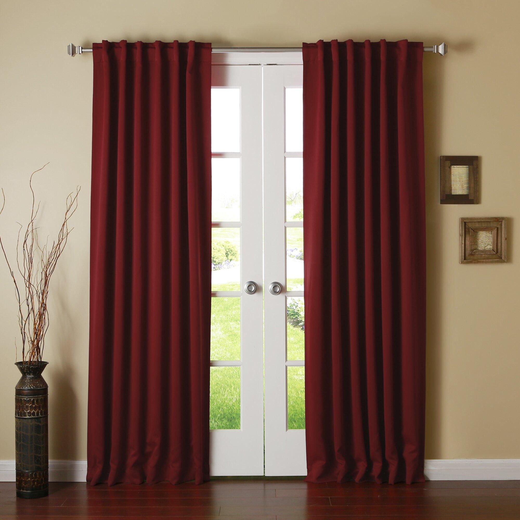 best home fashion inc solid grommet top thermal. Black Bedroom Furniture Sets. Home Design Ideas