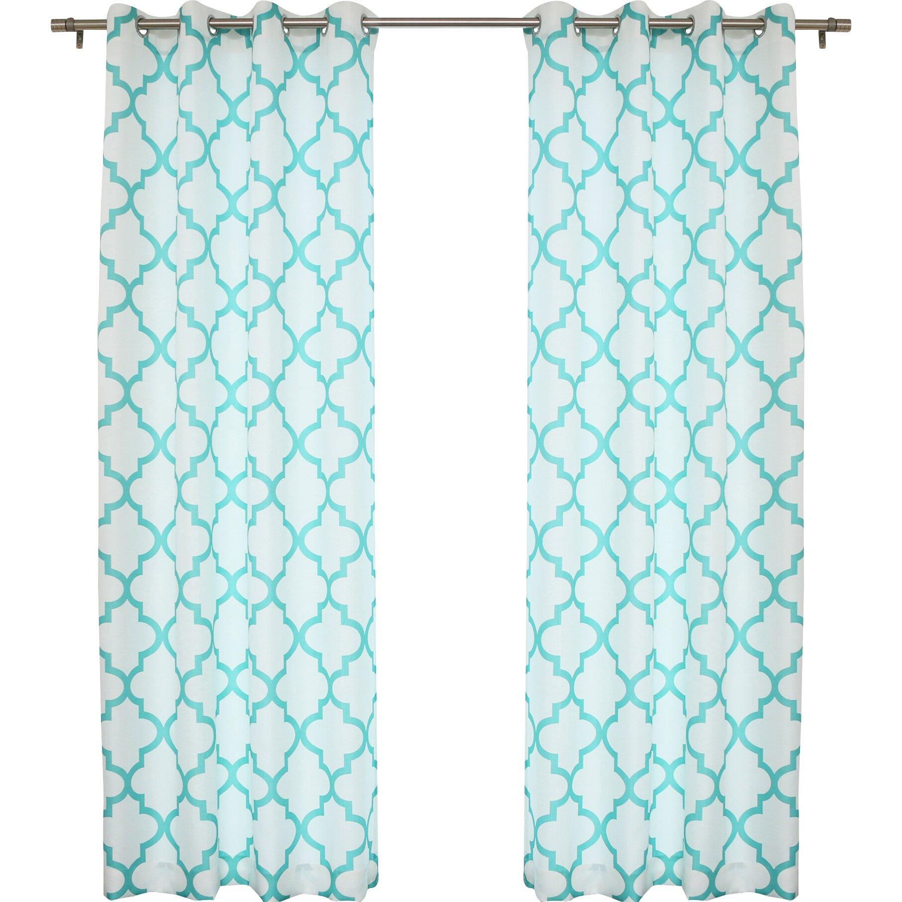 Best Home Fashion Inc Oxford Basketweave Curtain Panel