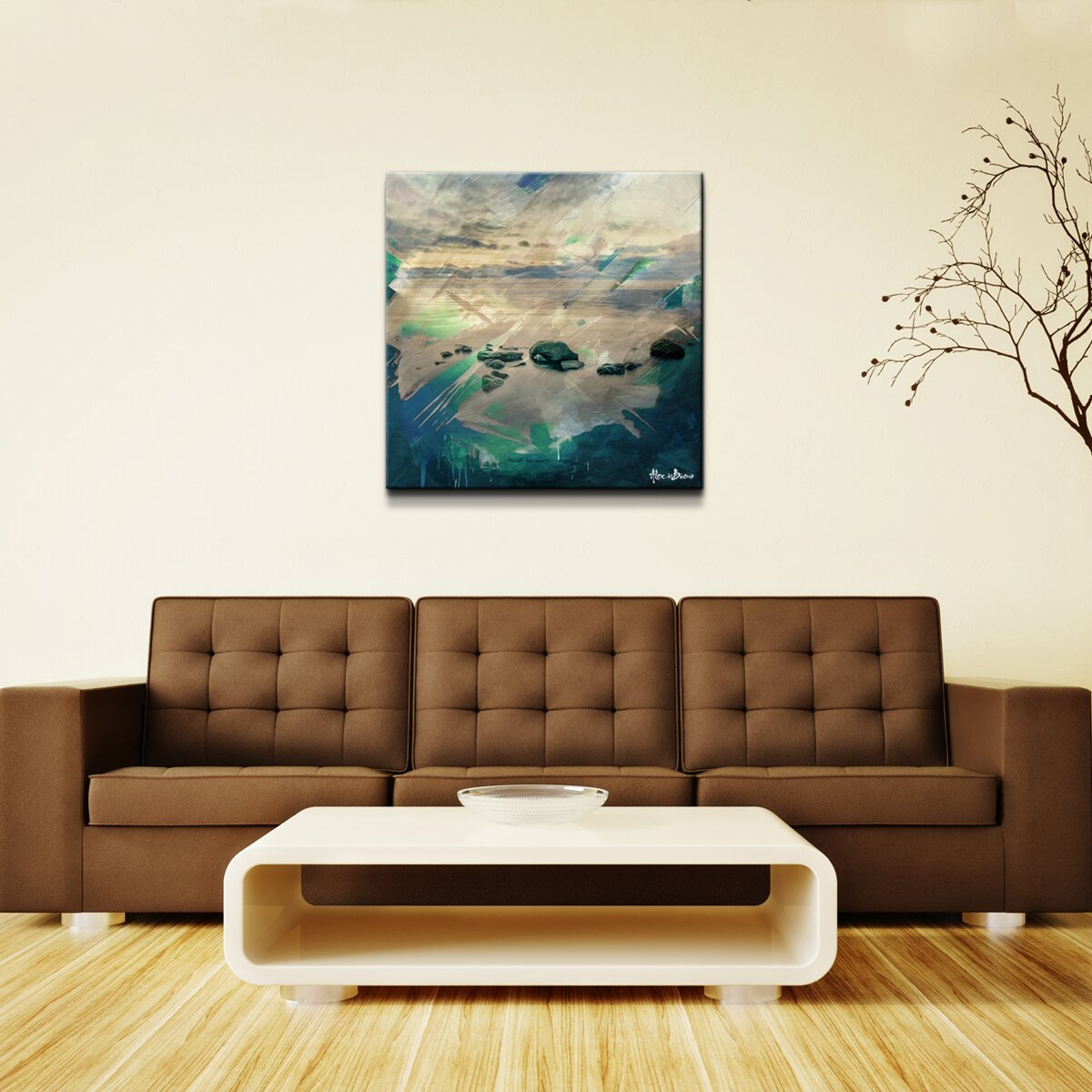 39 abstract stone spa 39 oversized wrapped canvas wall art for Spa wall decor