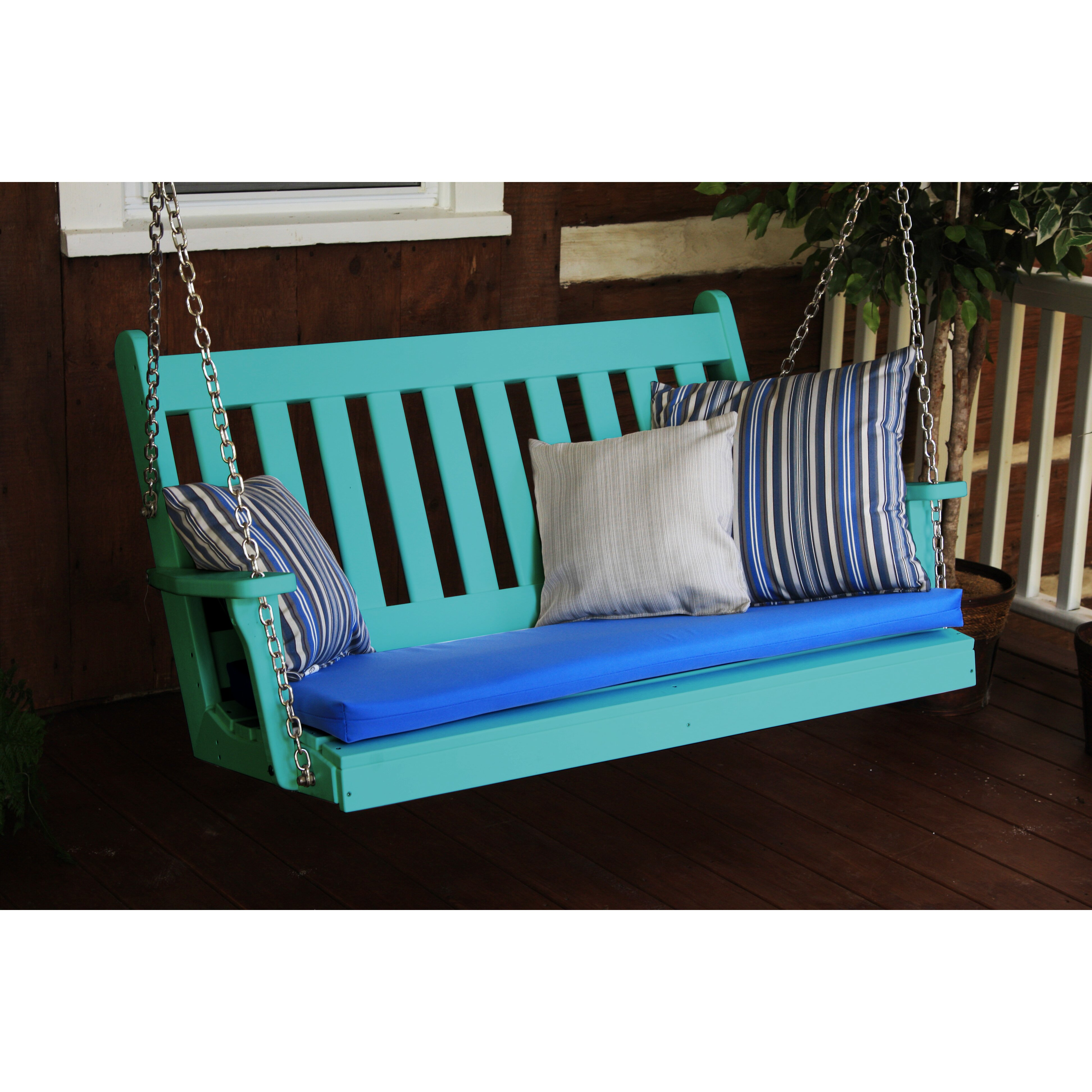 Furniture Traditional English Porch Swing & Reviews | Wayfair
