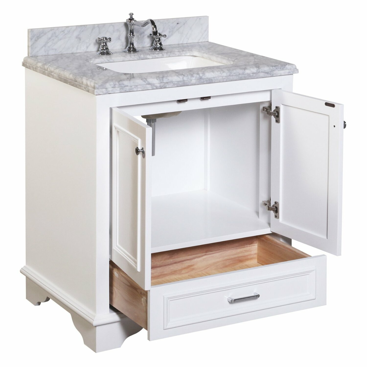 kbc nantucket 30 quot single bathroom vanity set amp reviews sunny wood kitchen and bath collections