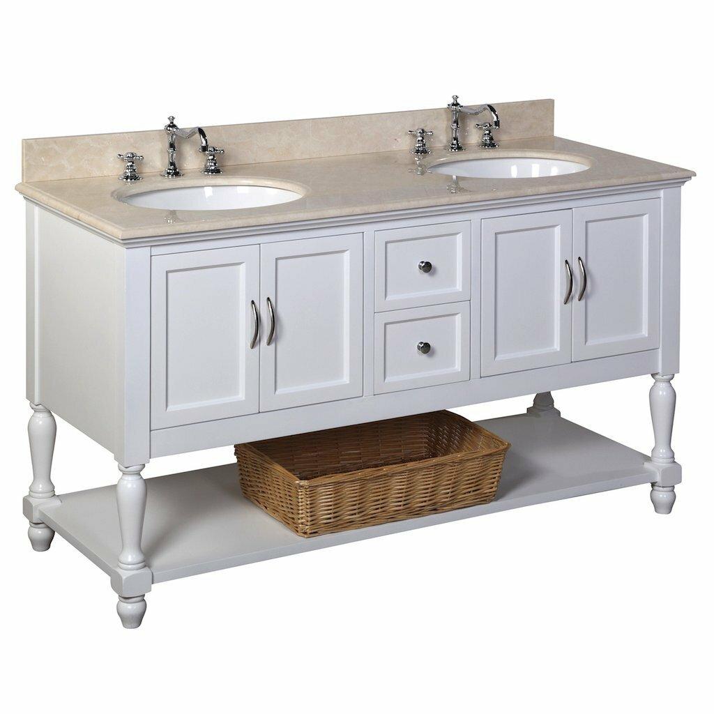 """KBC Beverly 60"""" Double Bathroom Vanity Set & Reviews"""