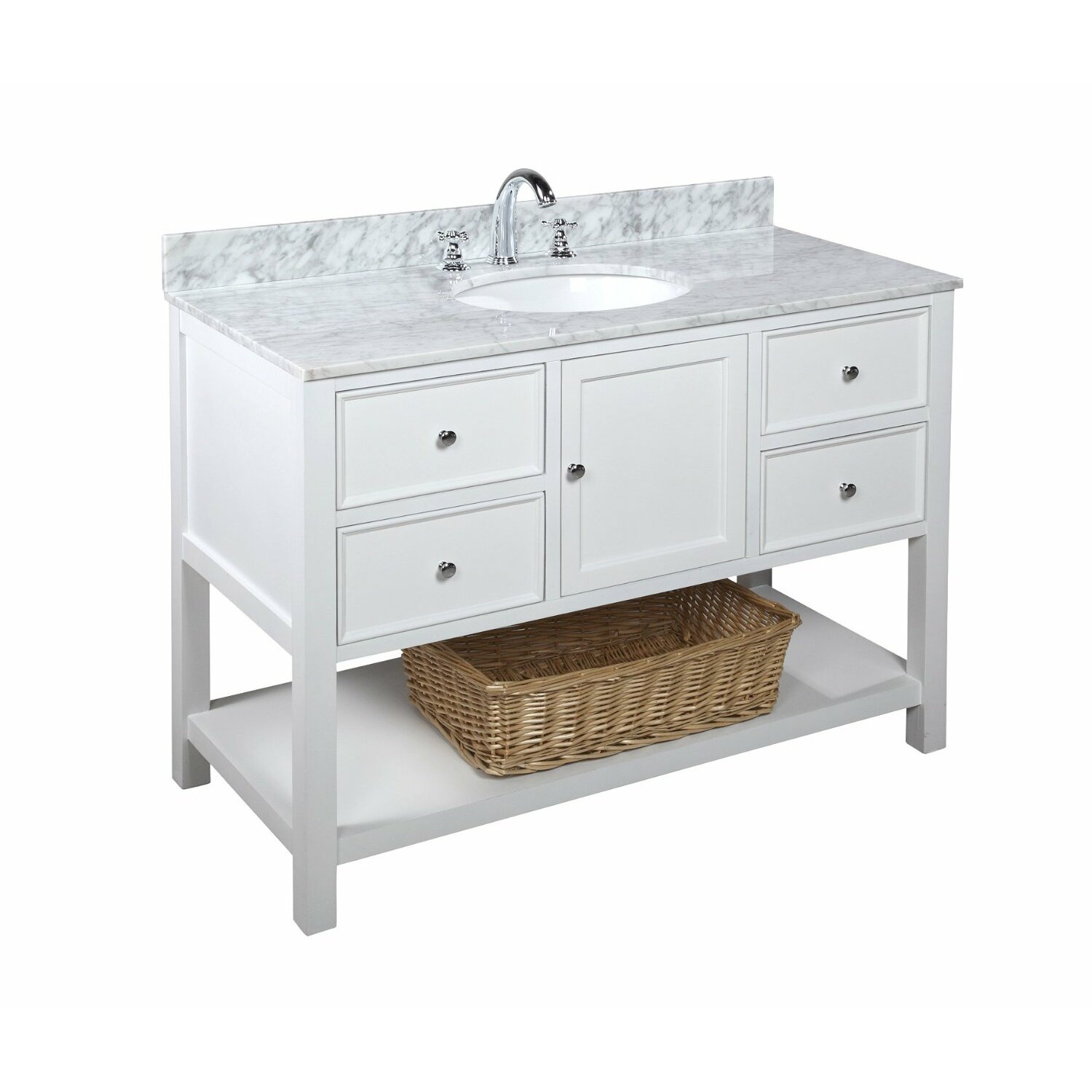kbc new yorker 48 quot single bathroom vanity set amp reviews