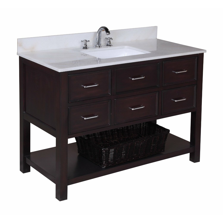 "KBC New Hampshire 48"" Single Bathroom Vanity Set & Reviews"