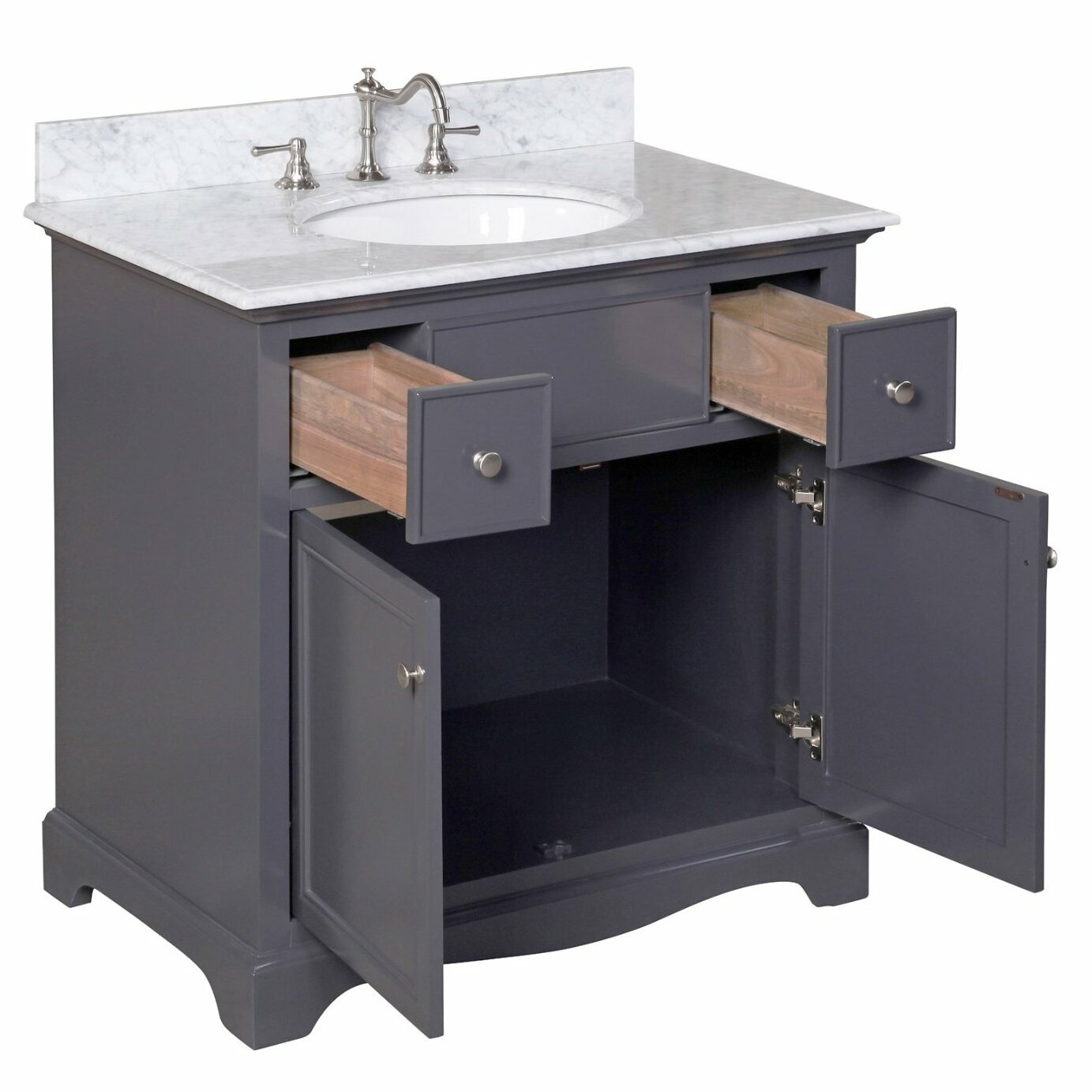 kitchen bath collection emily 36 single sink bathroom vanity set