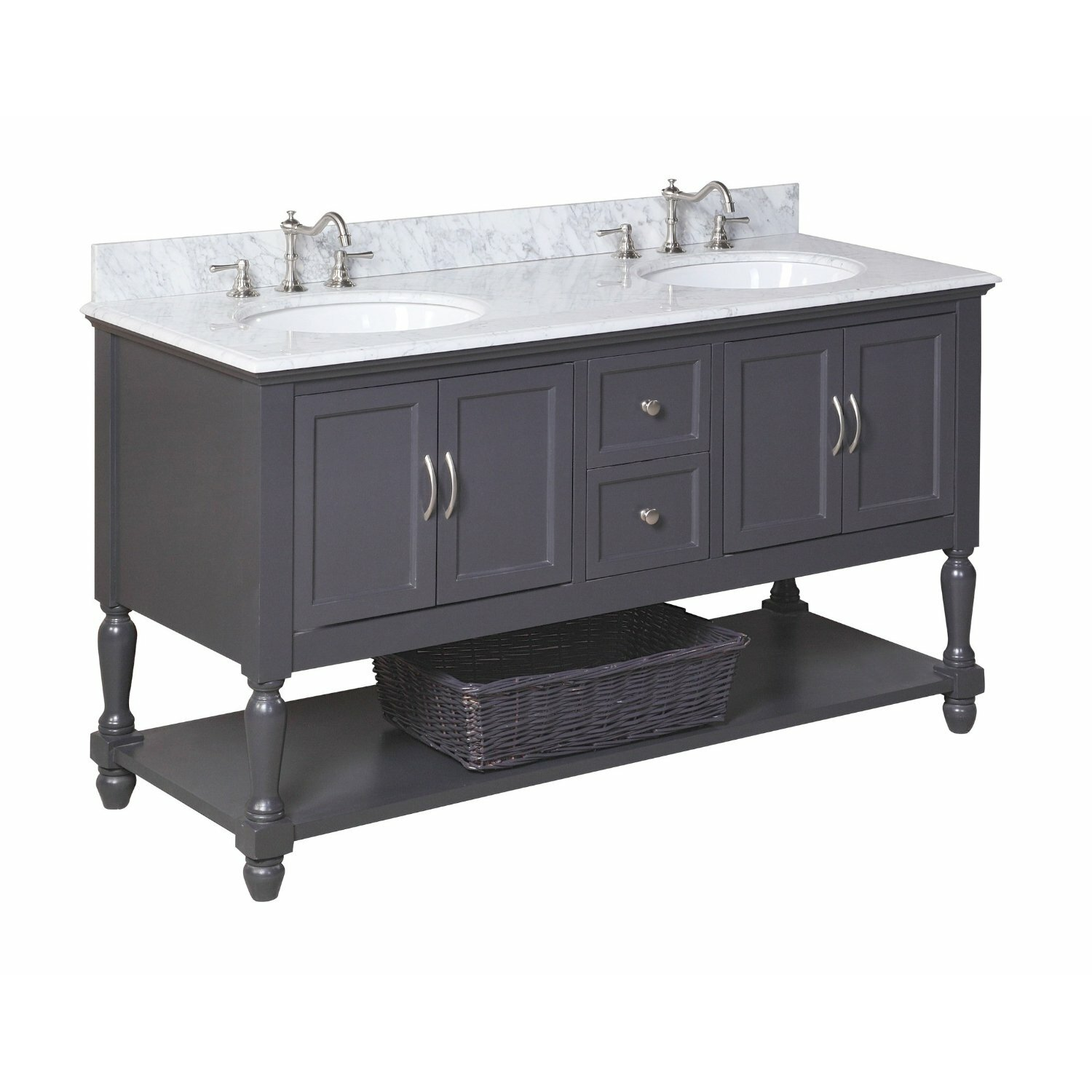 Kitchen Bath Collection Beverly 60quot; Double Bathroom Vanity Set