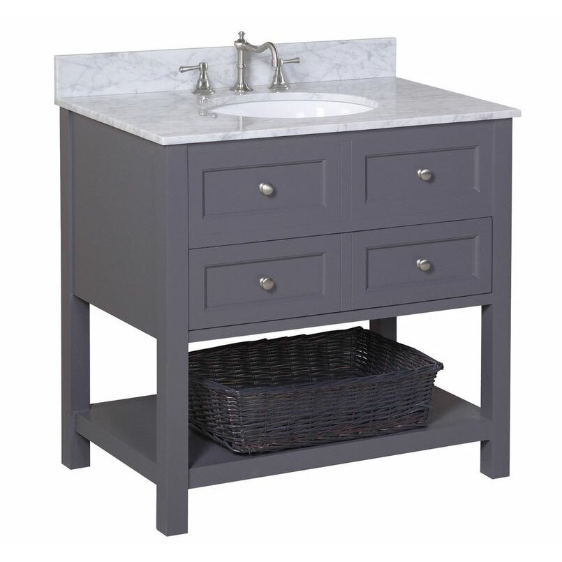 """KBC New Yorker 36"""" Single Bathroom Vanity Set & Reviews"""