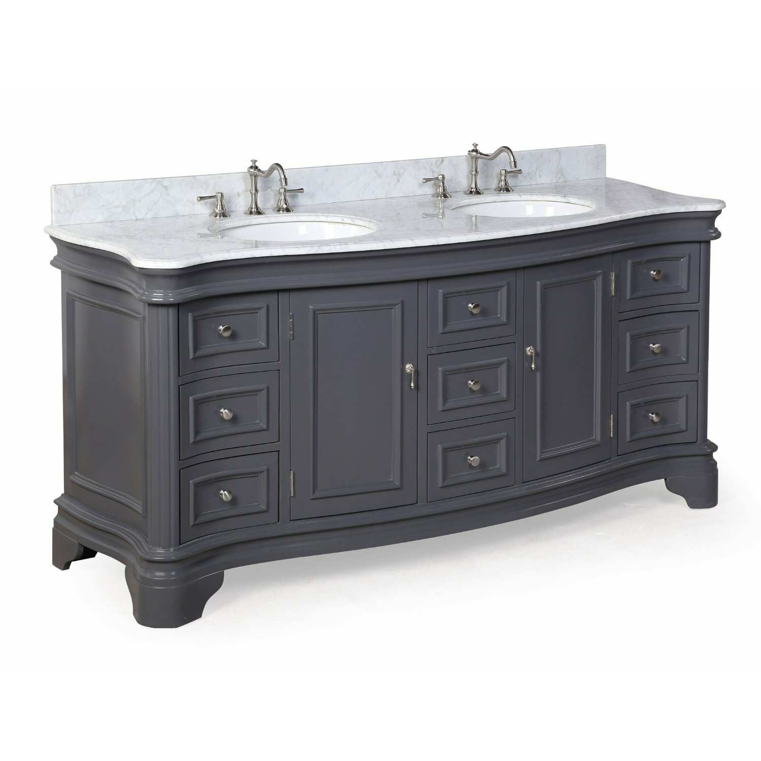 Kbc Katherine 72 Double Bathroom Vanity Set Reviews Wayfair