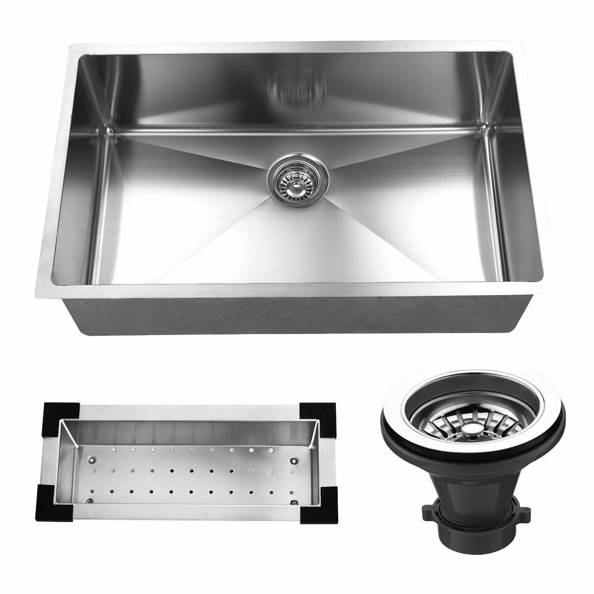 Stainless Steel Single Bowl Kitchen Sink : 32