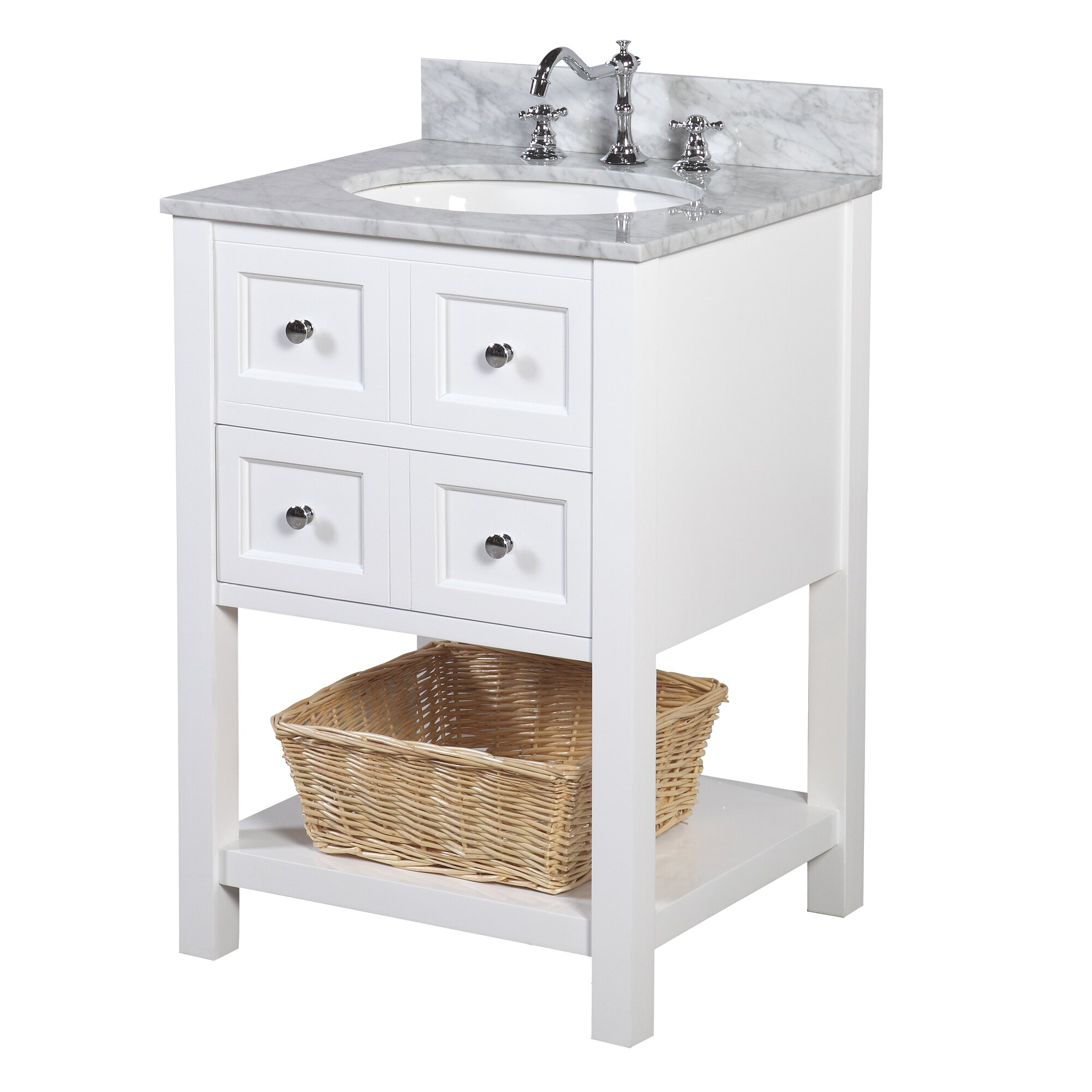 """KBC New Yorker 24"""" Single Bathroom Vanity Set & Reviews"""