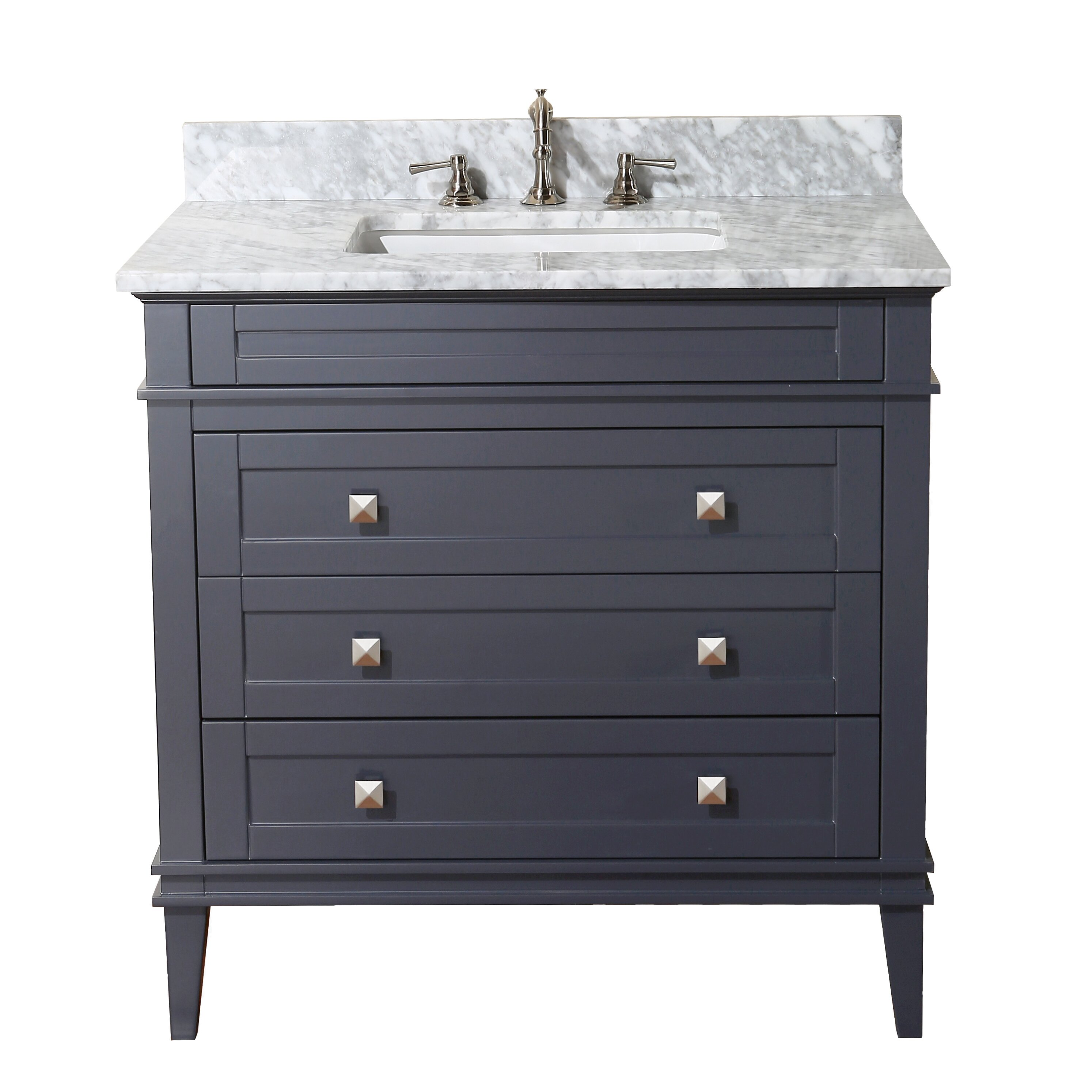 Kitchen Bath Collection Eleanor 36quot; Single Bathroom Vanity Set