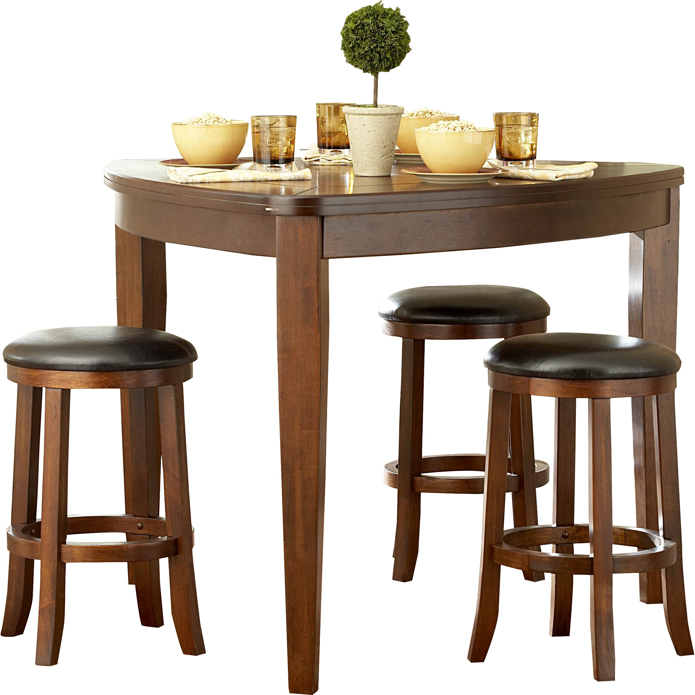 Backbone triangle counter height table wayfair - Triangle counter height dining set ...