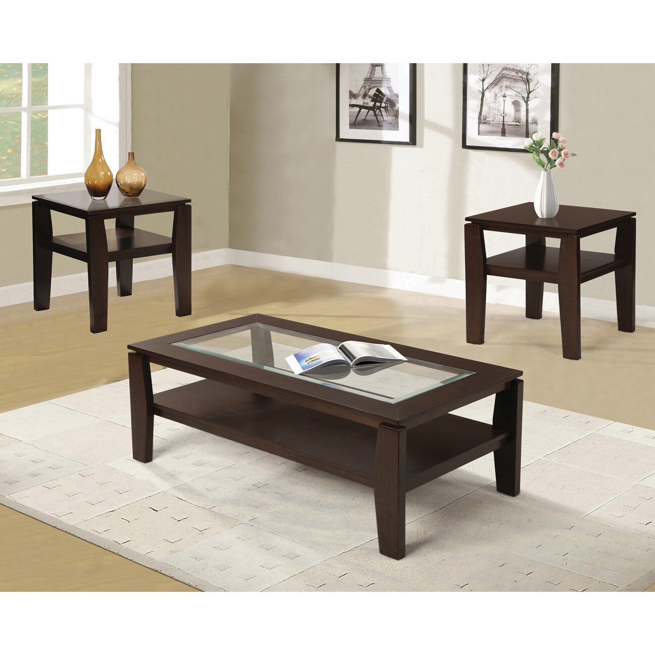 Red Barrel Studio Golder 3 Piece Coffee Table Set Reviews Wayfair