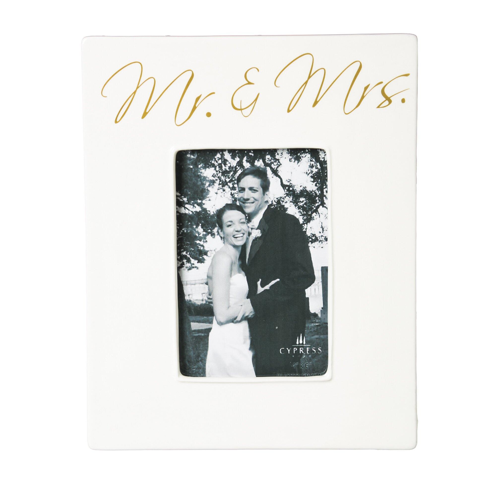 Red Barrel Studio Mr And Mrs Ceramic Picture Frame