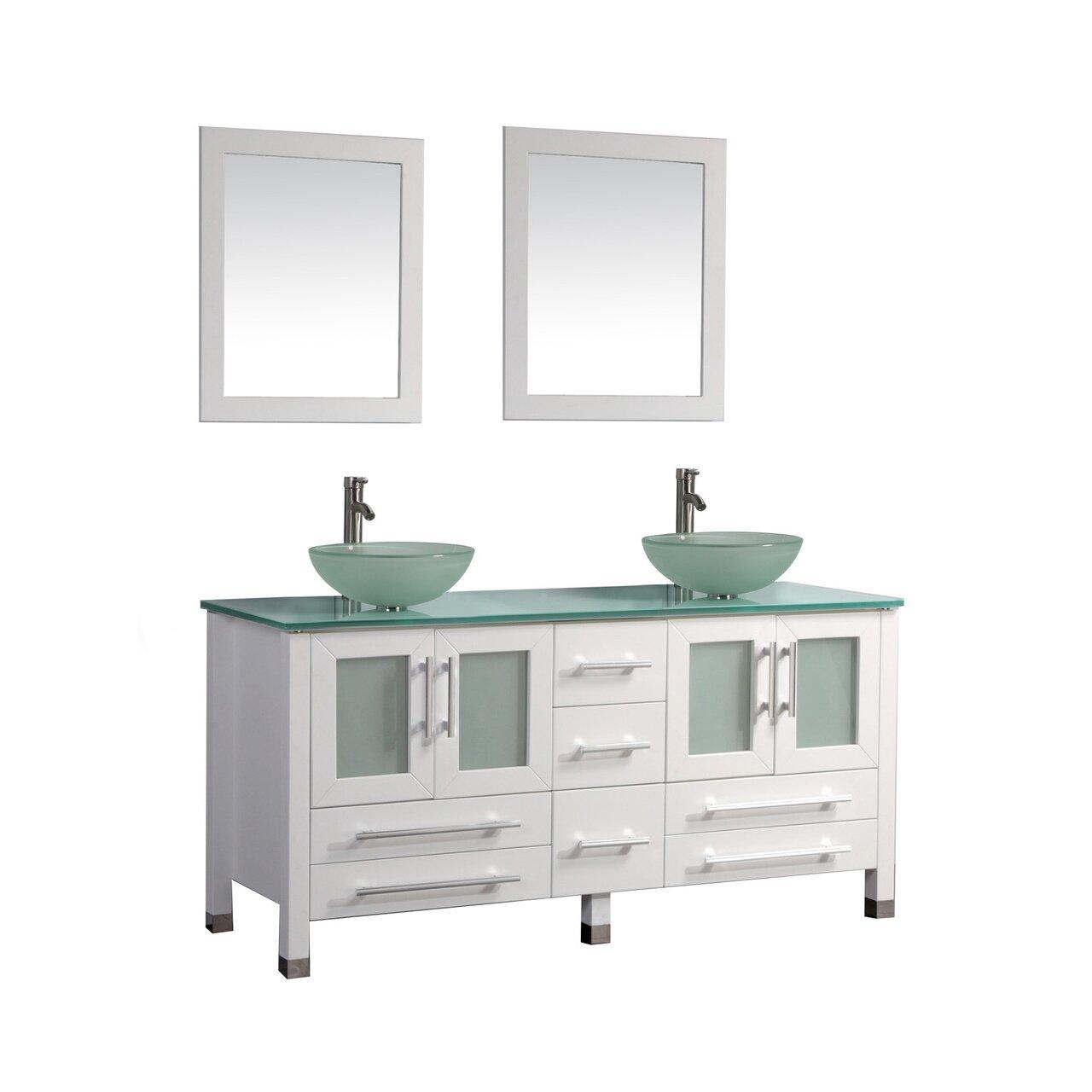 Mtdvanities Cuba 71 Double Sink Bathroom Vanity Set With