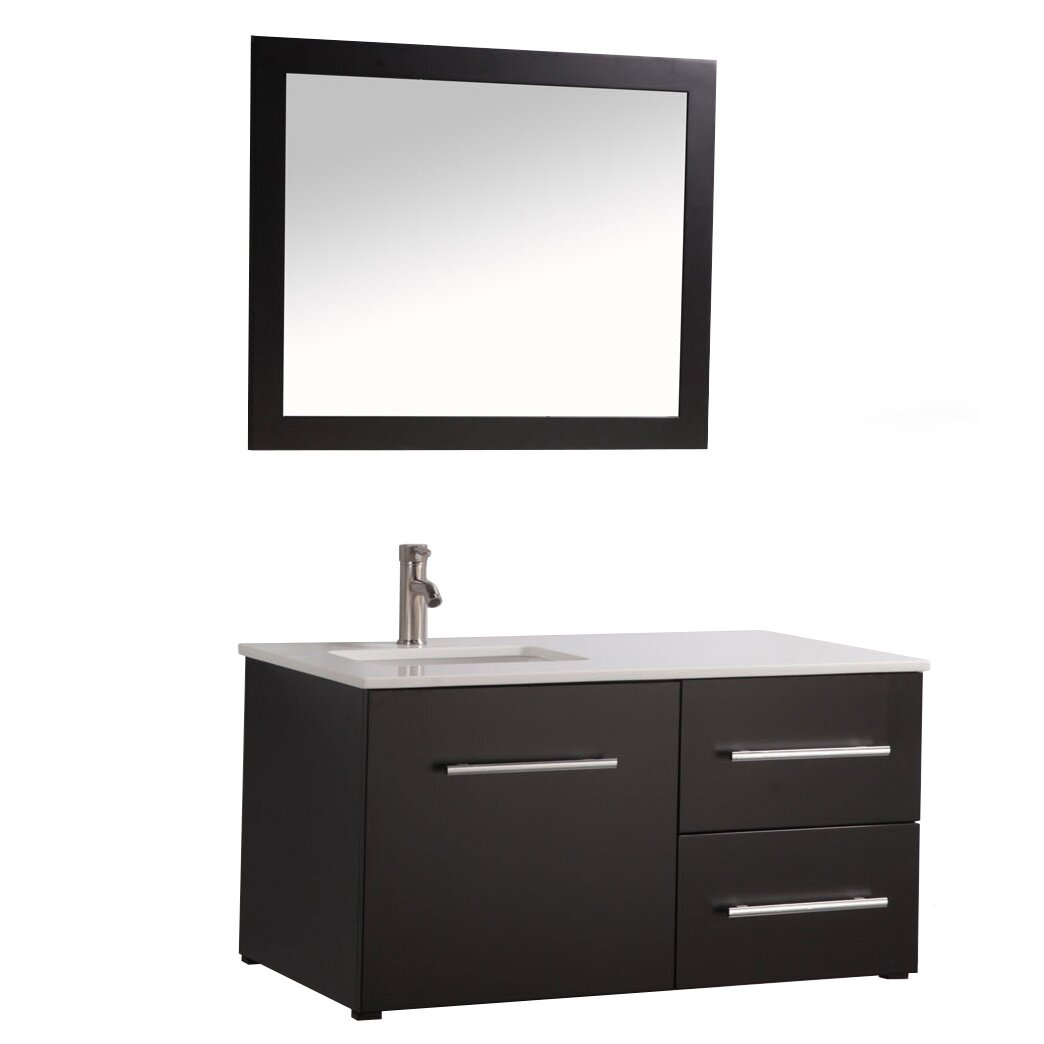 Nepal 41 Single Sink Wall Mounted Bathroom Vanity Set With Mirror Wayfair