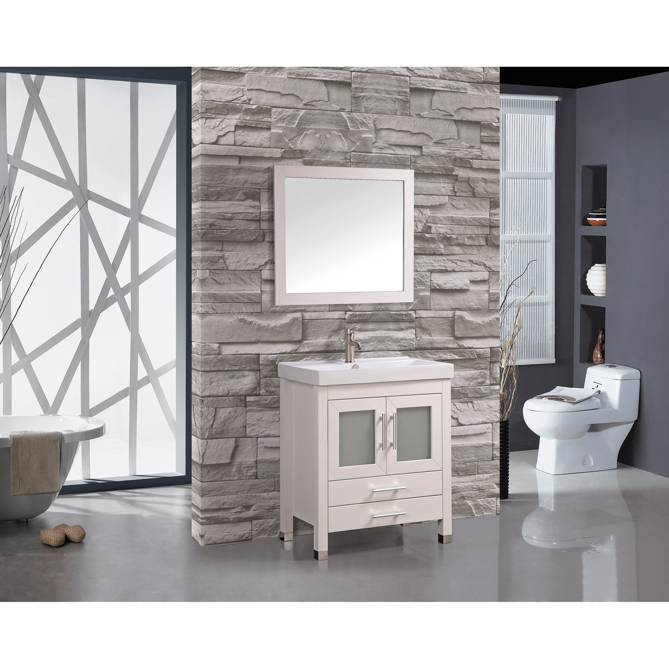 "MTDVanities Greece 30"" Single Sink Bathroom Vanity Set"