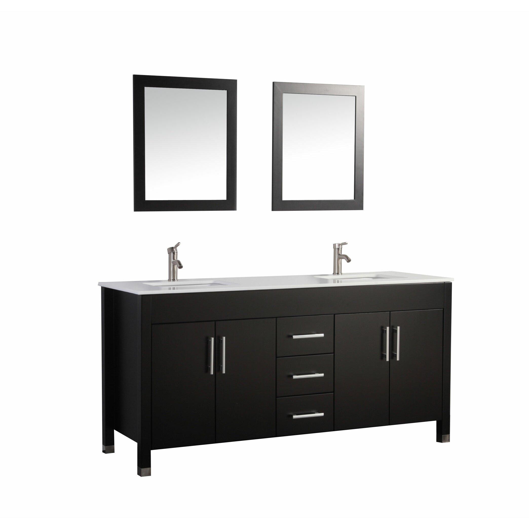 Mtdvanities Monaco 63 Double Sink Bathroom Vanity Set With Mirrors Reviews Wayfair