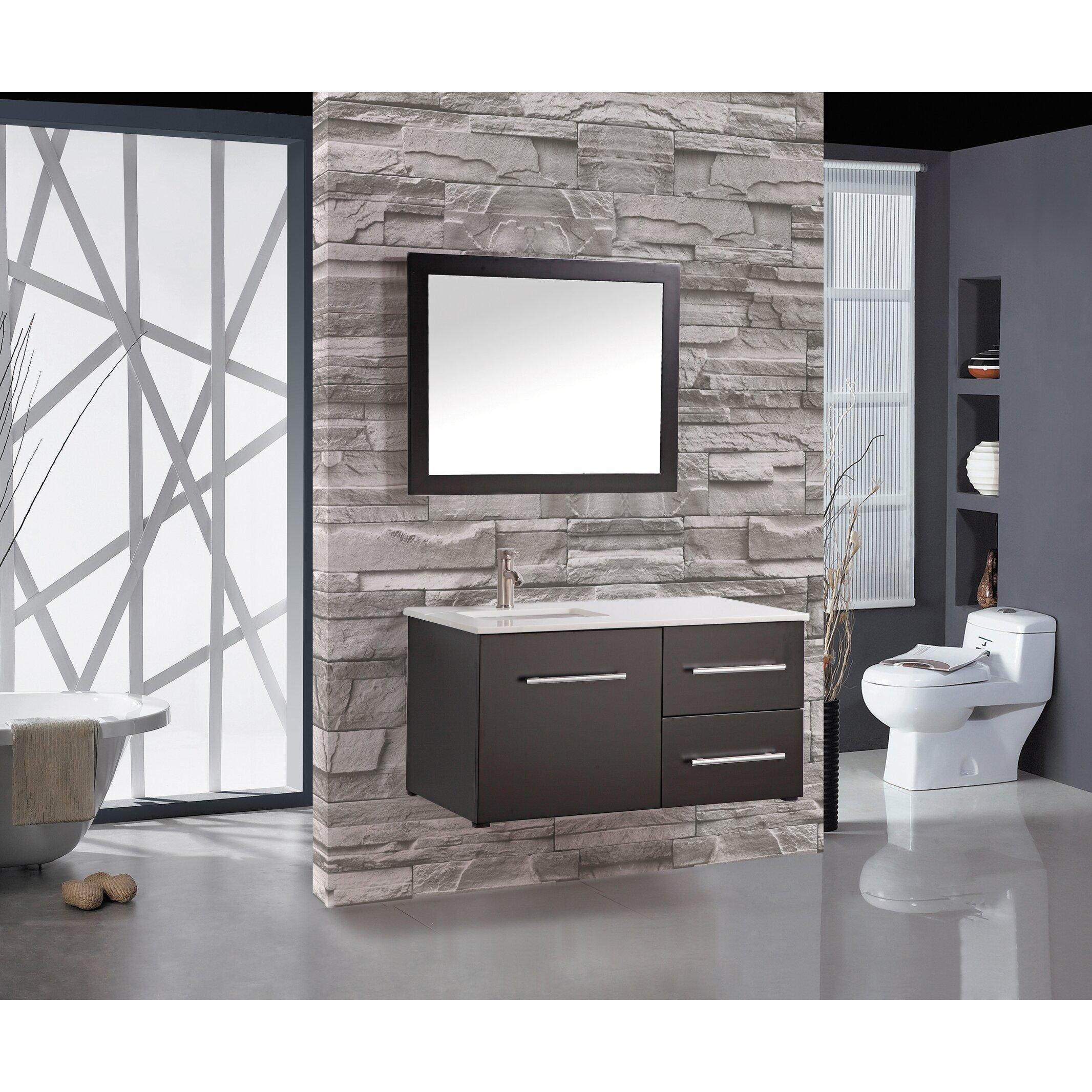 Nepal 41 single sink wall mounted bathroom vanity set for Bathroom designs in nepal
