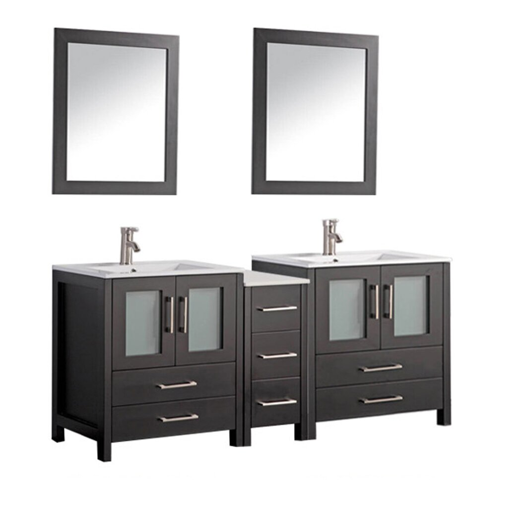 mtd vanities argentina 72 double sink bathroom vanity set with mirror