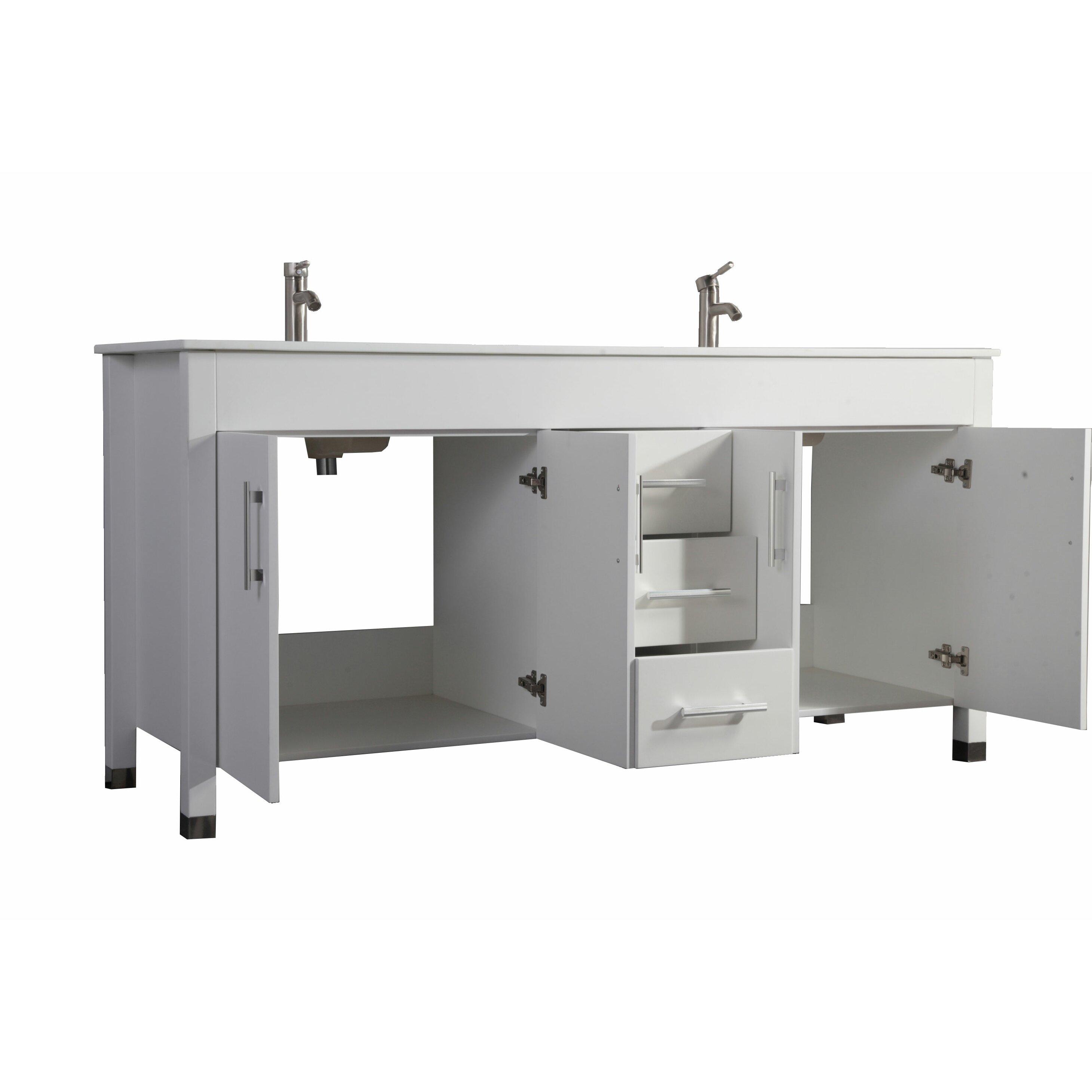 """MTDVanities Monaco 71"""" Double Sink Bathroom Vanity Set"""