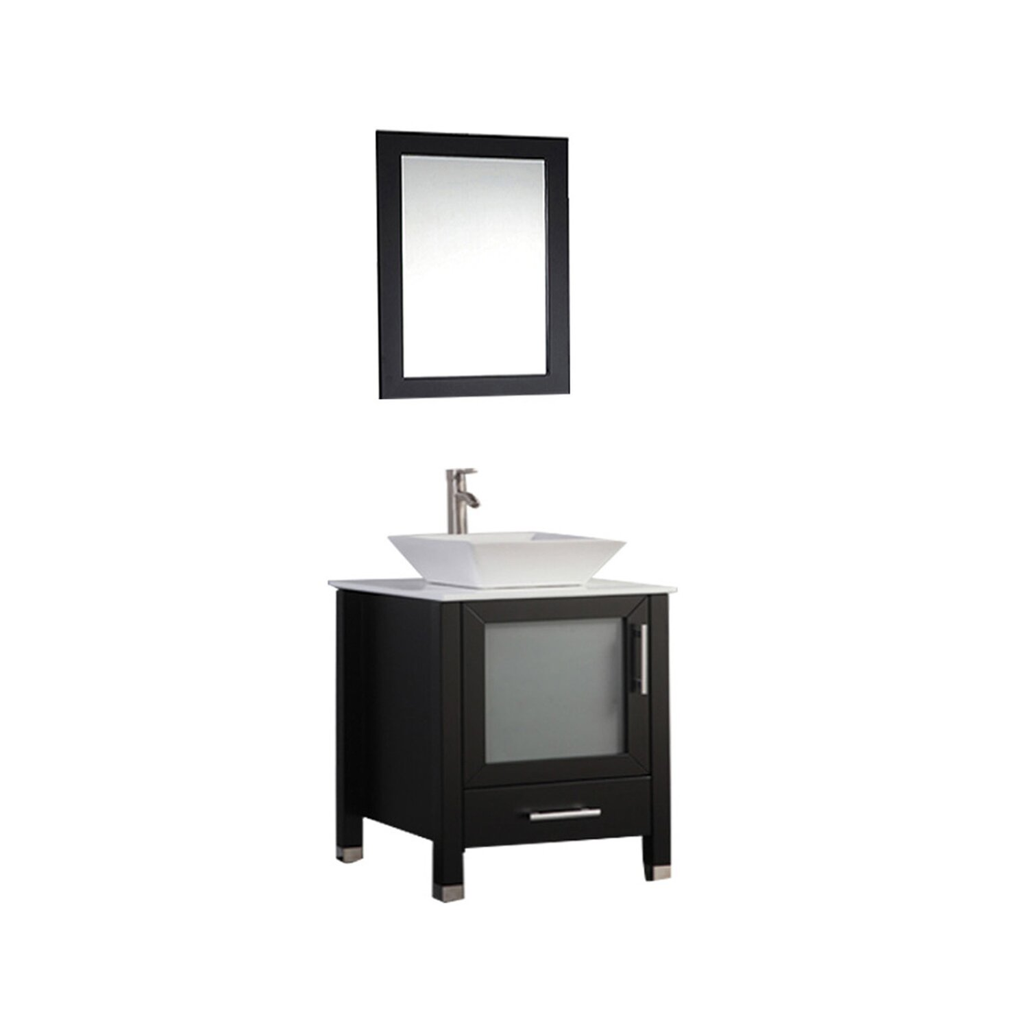 mtd vanities malta 24 single sink bathroom vanity set with mirror
