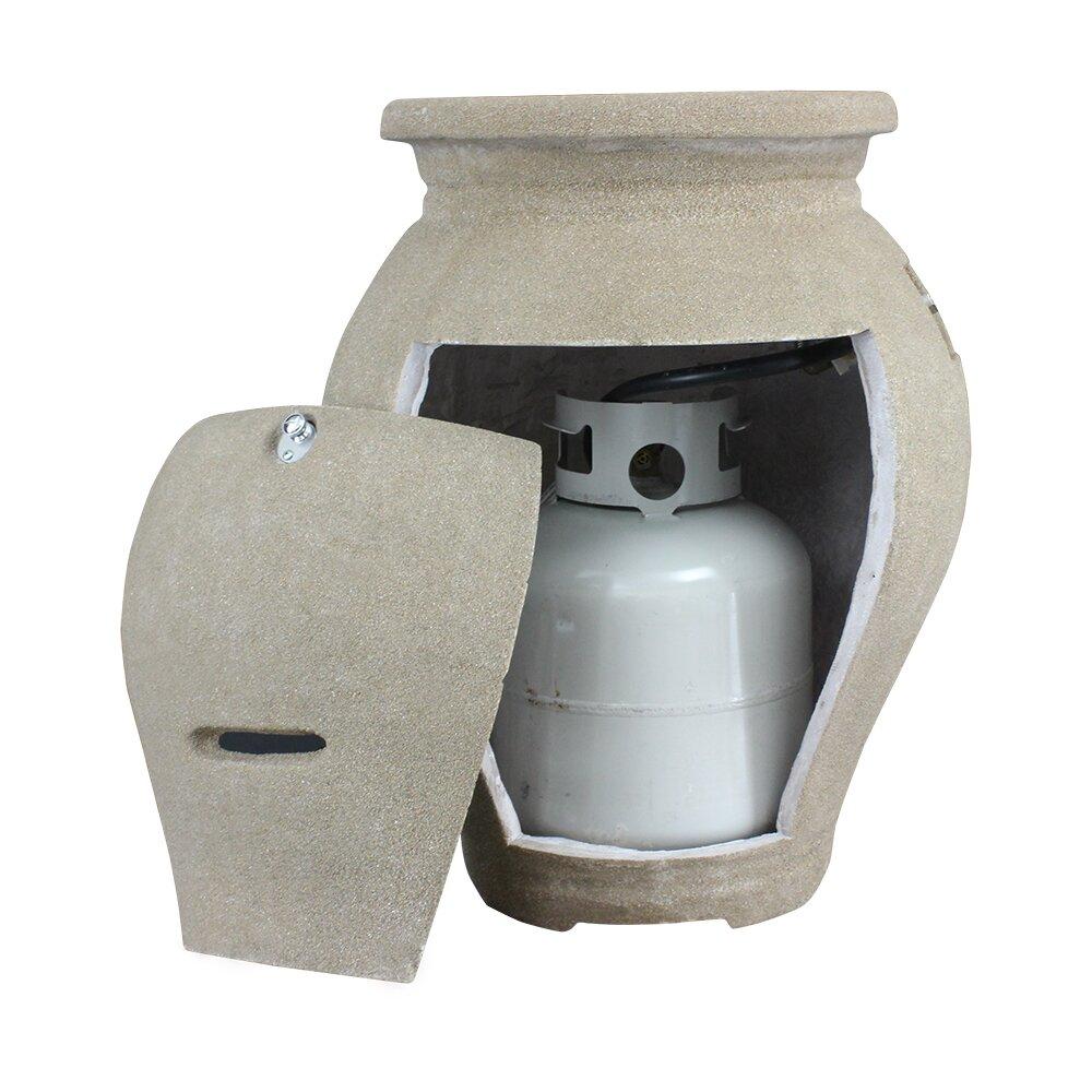 43 000 btu outdoor propane vase patio heater wayfair