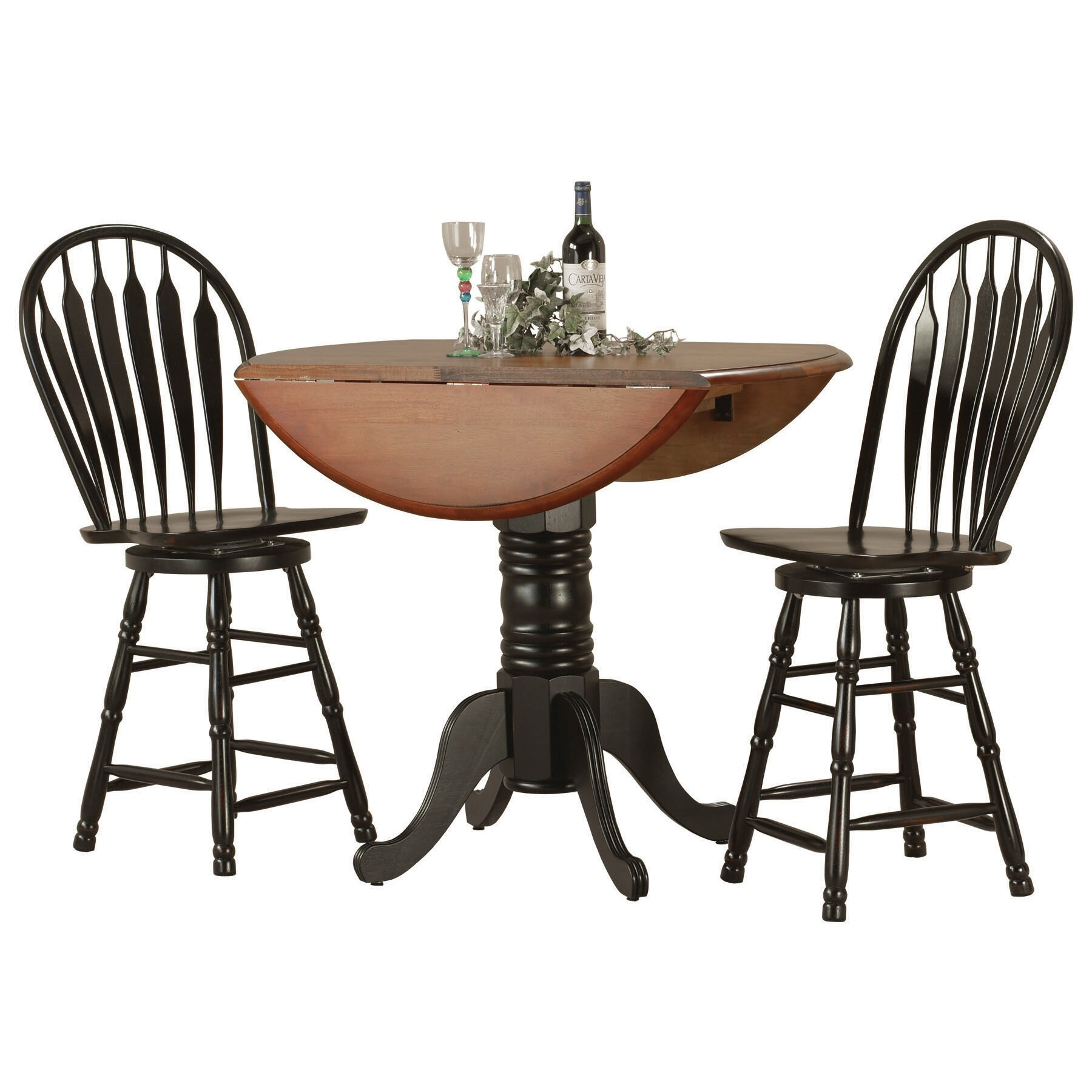 sunset trading sunset selections 3 piece pub table set reviews wayfair. Black Bedroom Furniture Sets. Home Design Ideas