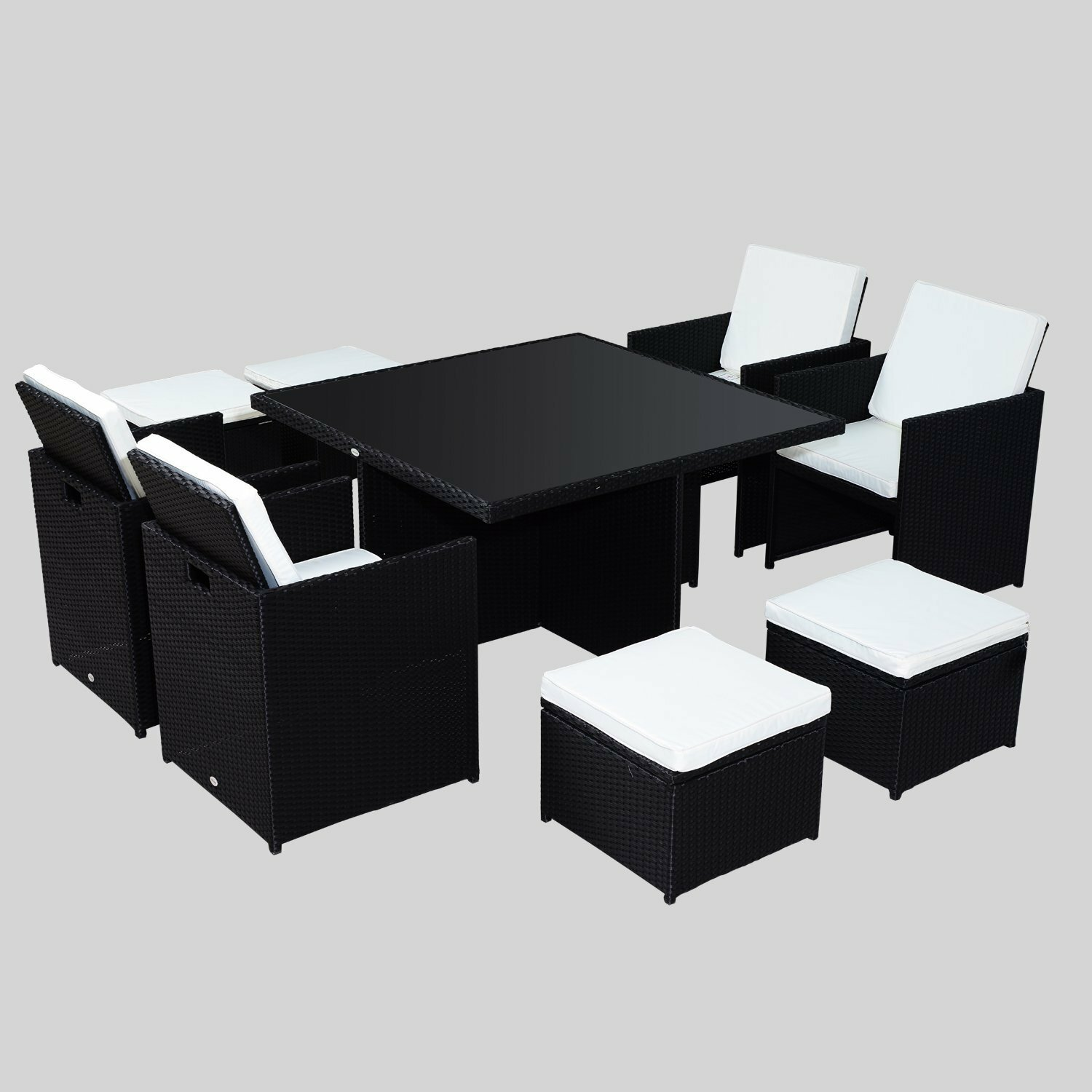 Hom Outsunny 8 Seater Dining Set with Cushions