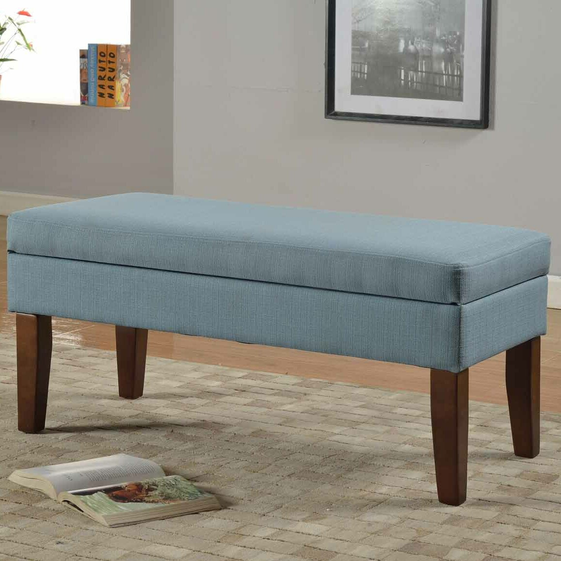 HomePop Upholstered Storage Bench & Reviews