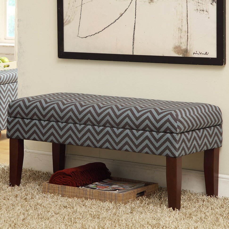 HomePop Decorative One Seat Bench With Storage & Reviews