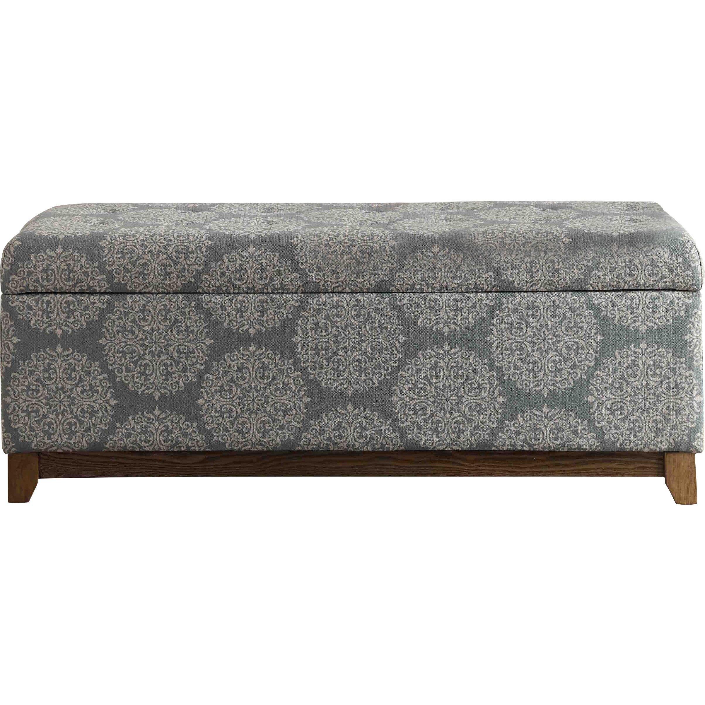 Homepop Storage Bench Reviews: HomePop Apron Wood Storage Bedroom Bench & Reviews