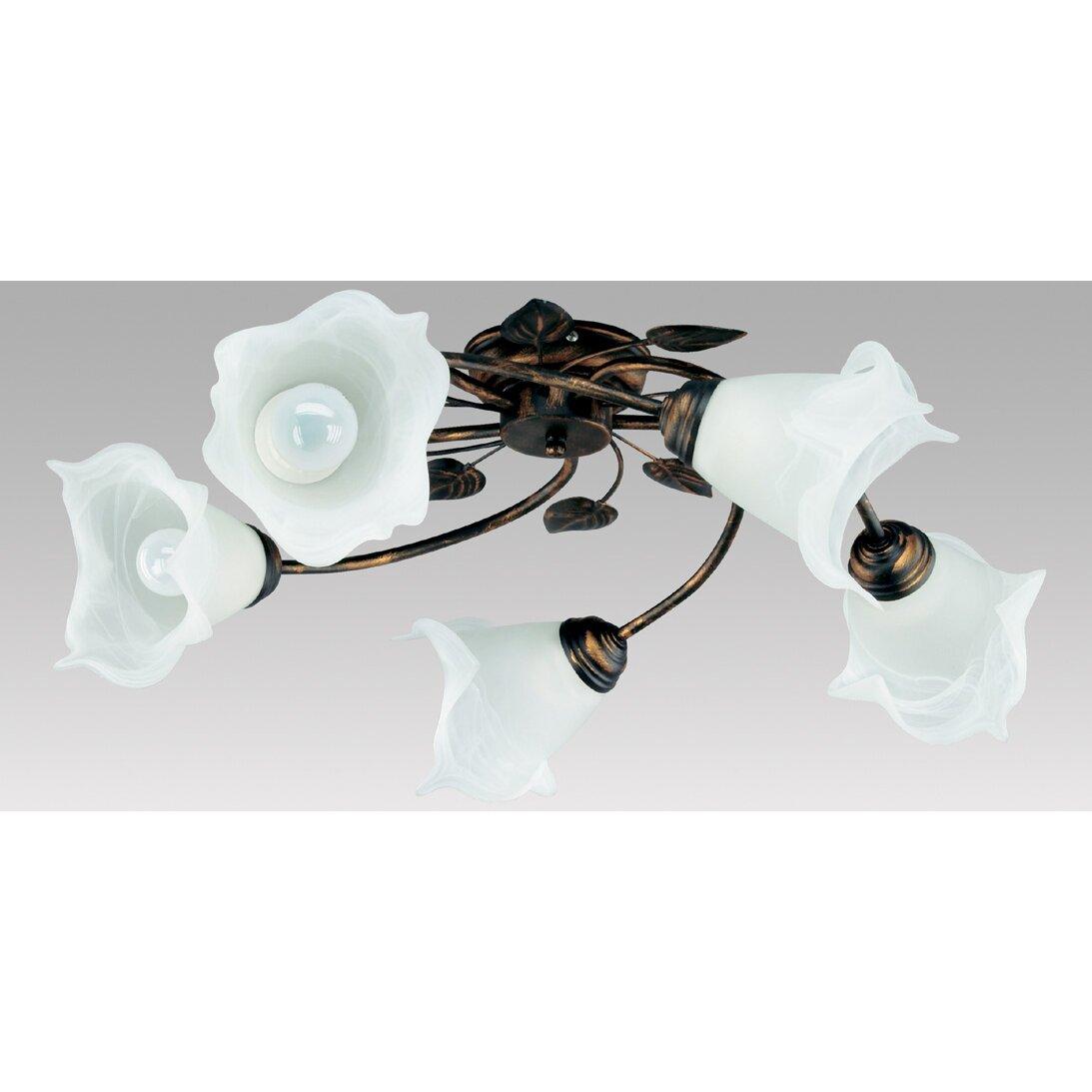 deckenleuchte 5 flammig bluszcz von lampex. Black Bedroom Furniture Sets. Home Design Ideas