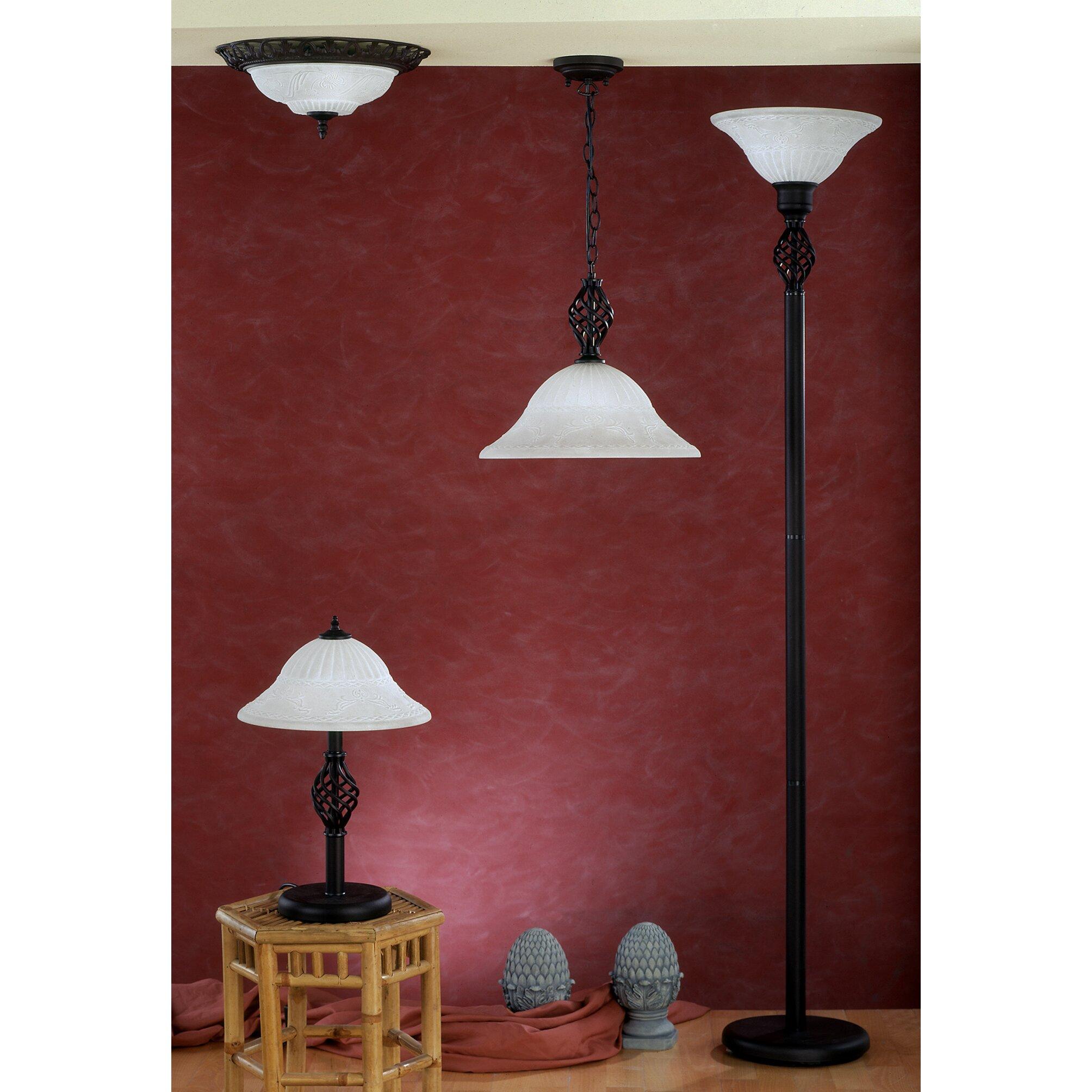 deckenleuchte 2 flammig von trio. Black Bedroom Furniture Sets. Home Design Ideas