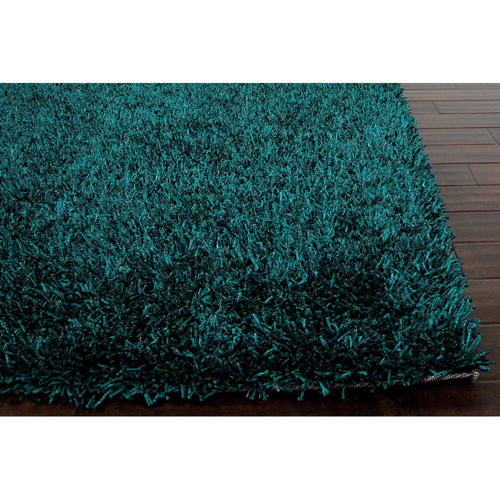 Teal Area Rug: Jaipur Rugs Flux Teal Blue Shag Area Rug & Reviews