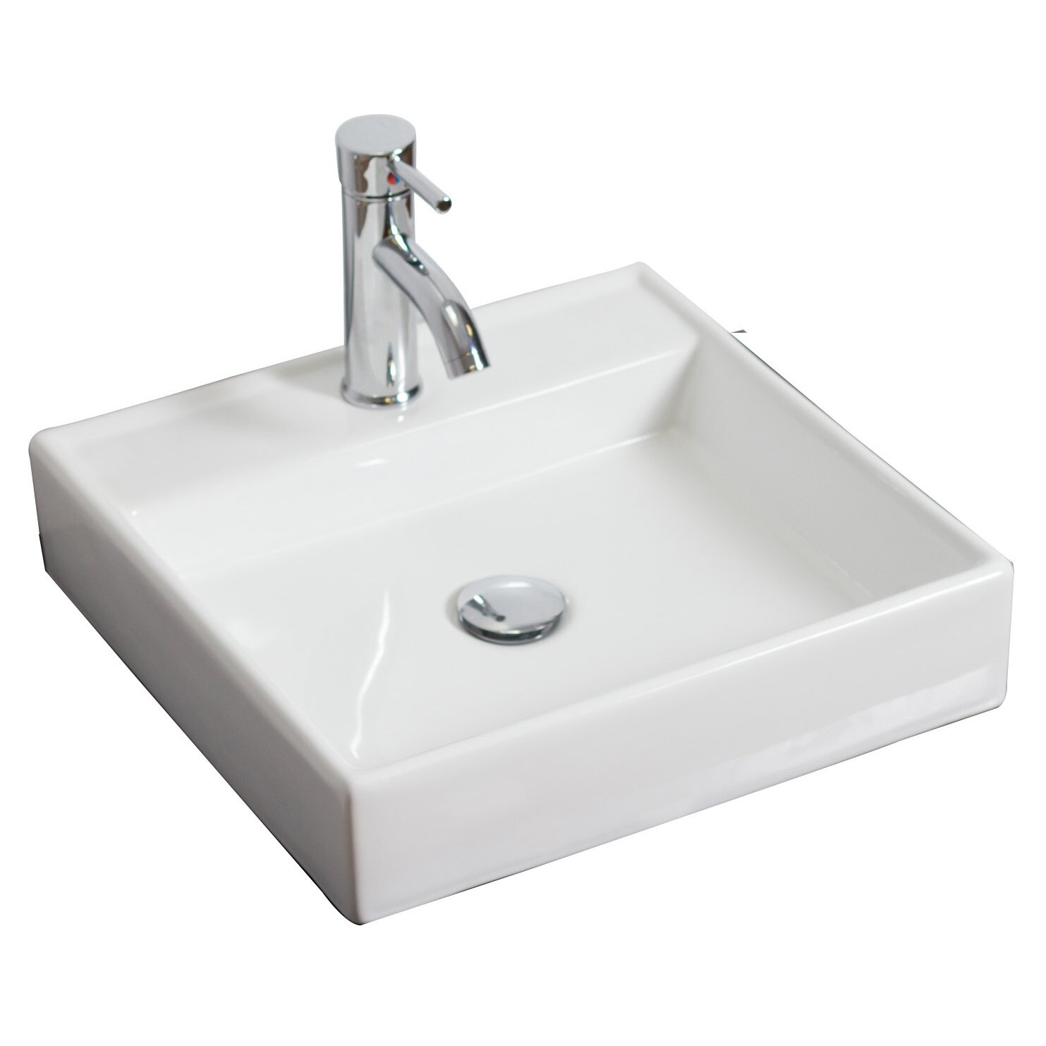Wall Mounted Square Vessel Bathroom Sink by American Imaginations