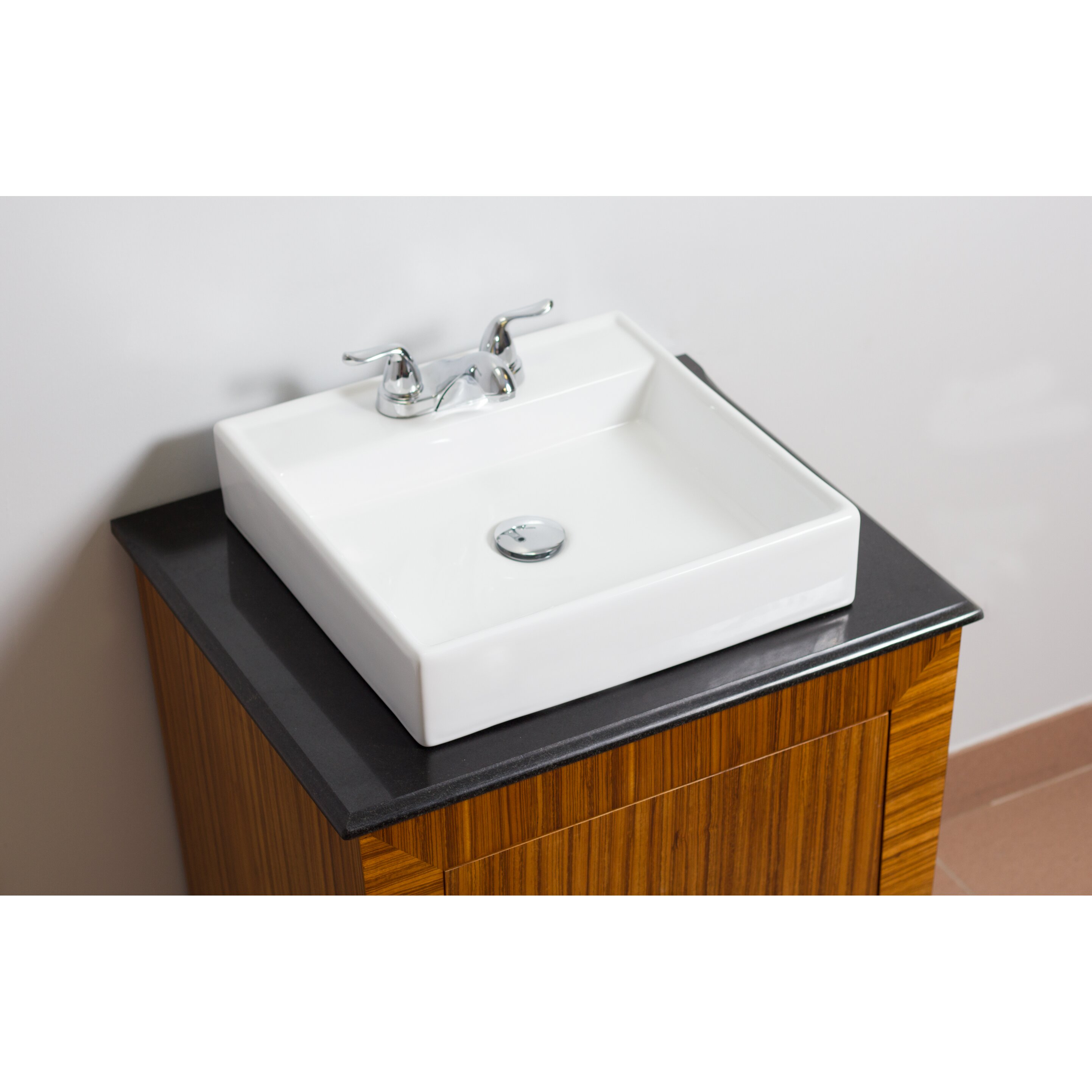 Sink Attached To Wall : Wall Mounted Square Vessel Bathroom Sink by American Imaginations