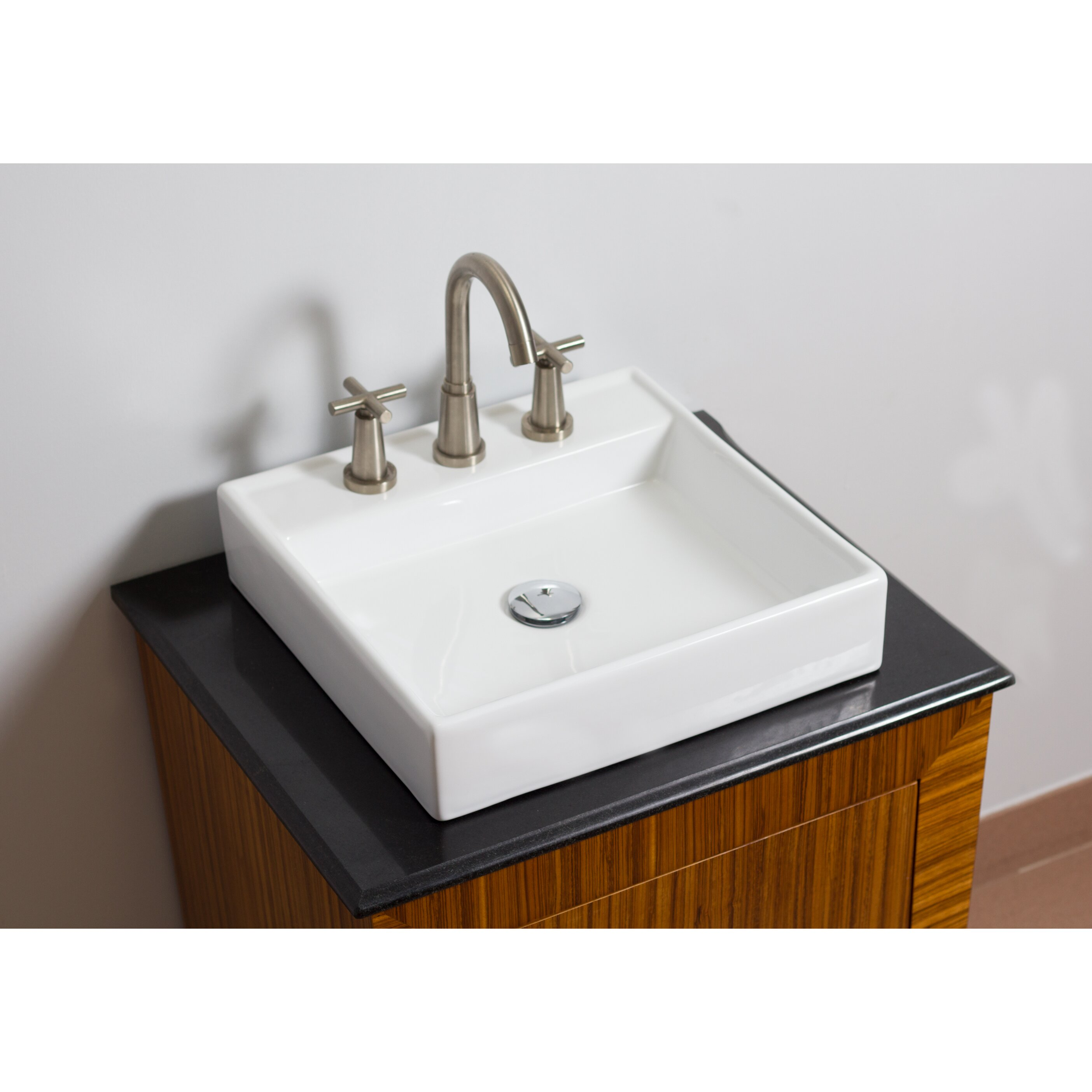 american imaginations above counter square vessel bathroom sink reviews wayfair. Black Bedroom Furniture Sets. Home Design Ideas