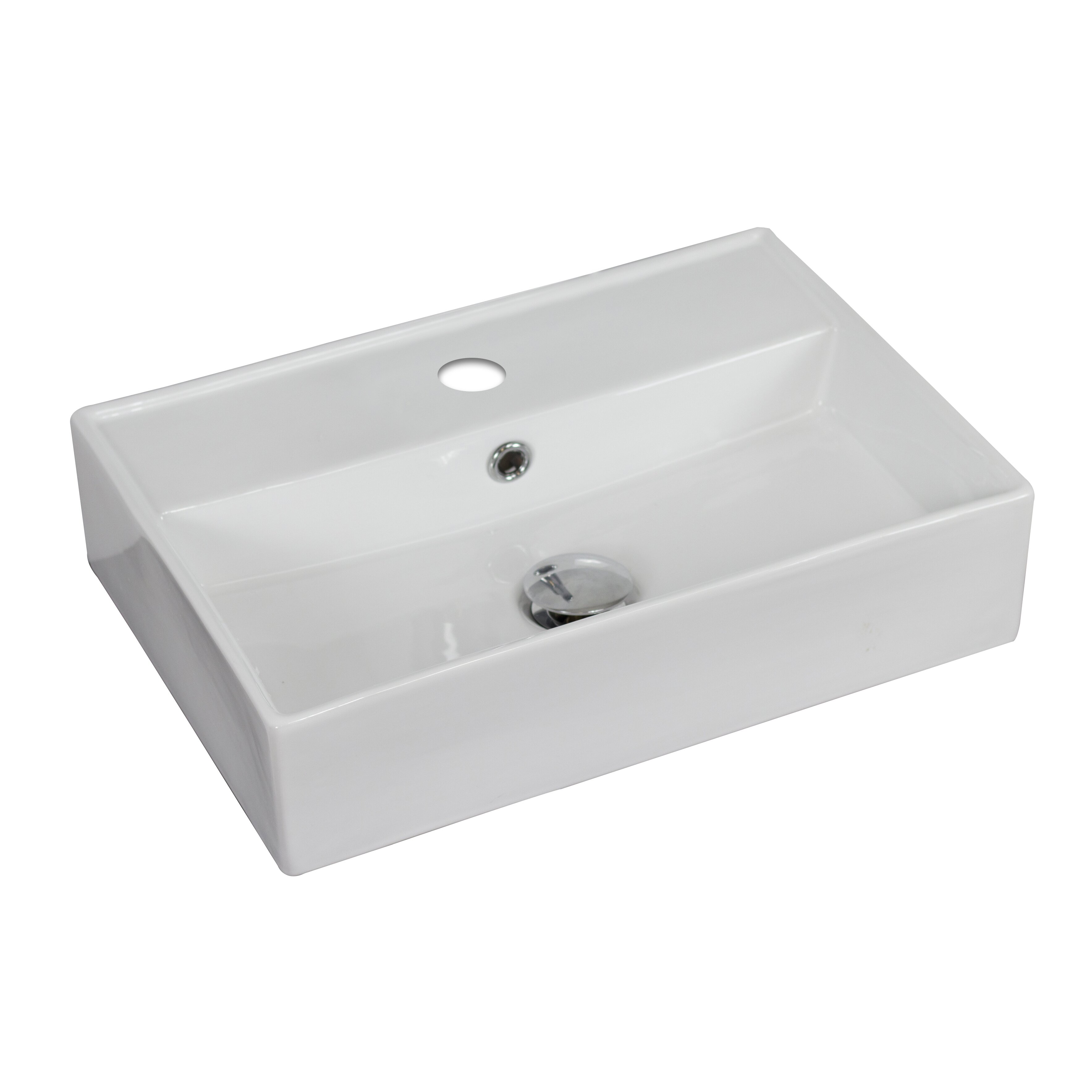 Vessel Sink Overflow : Rectangle Vessel Sink with Overflow by American Imaginations