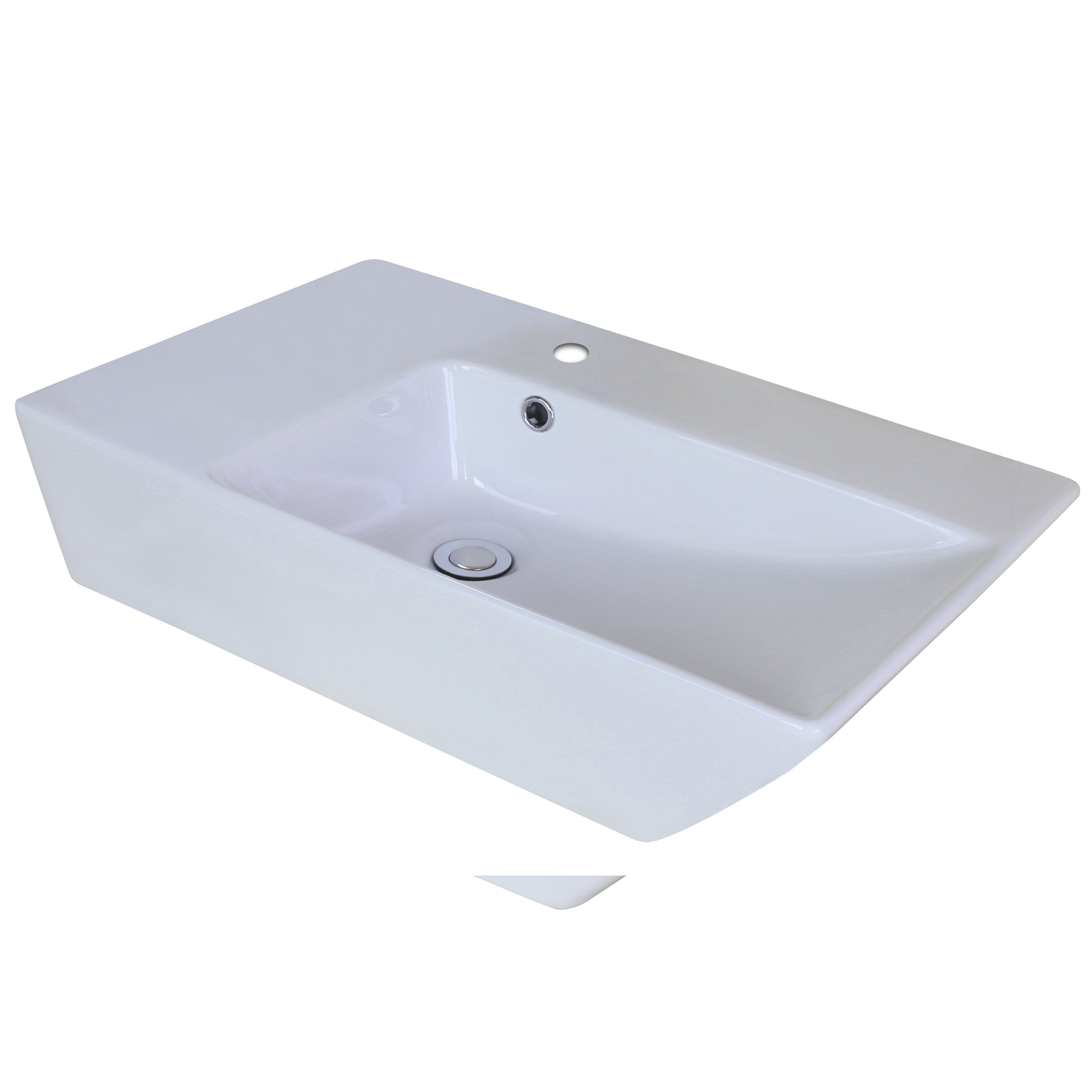 ... Imaginations Above Counter Rectangle Vessel Sink with Overflow