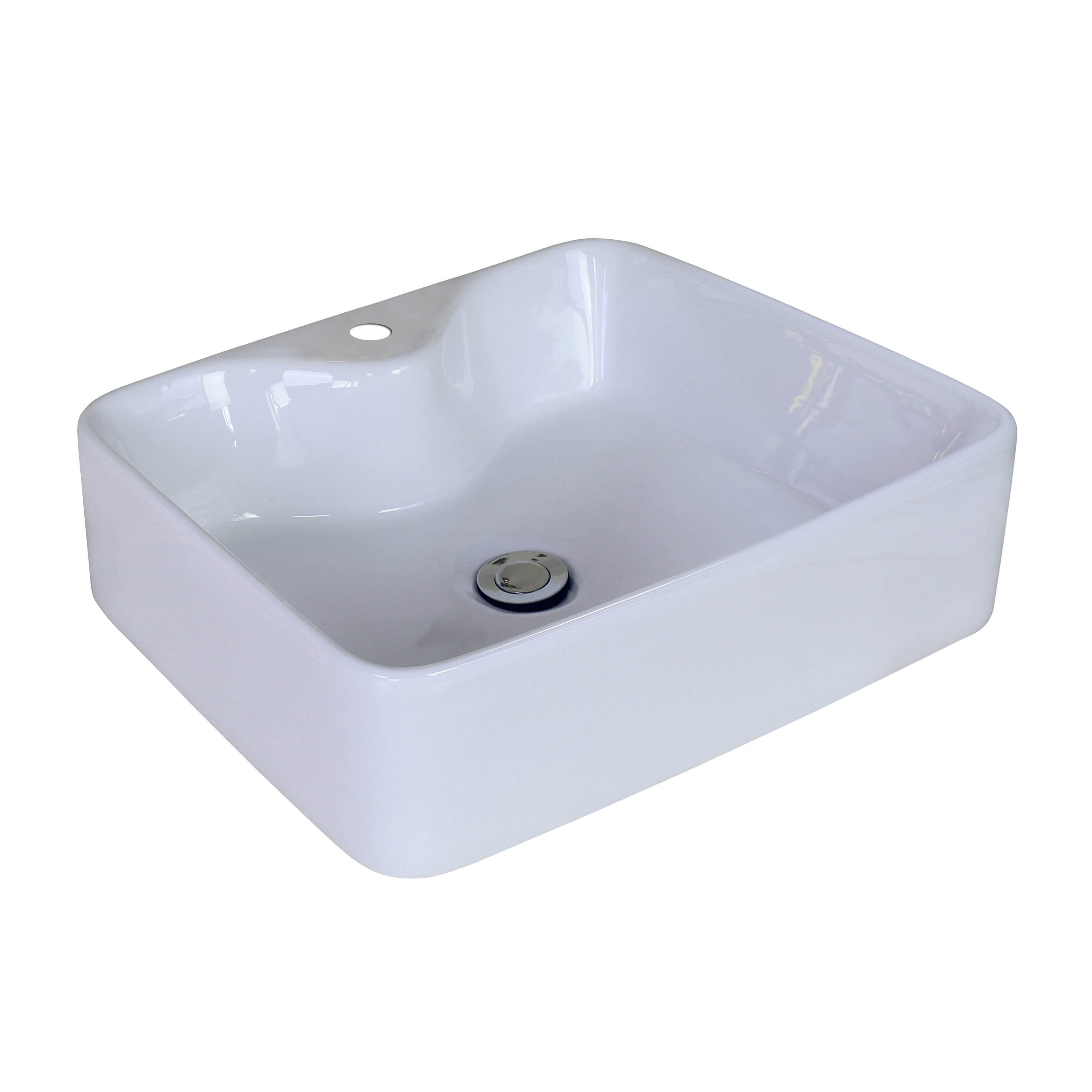 Above Counter Rectangle Vessel Bathroom Sink by American Imaginations