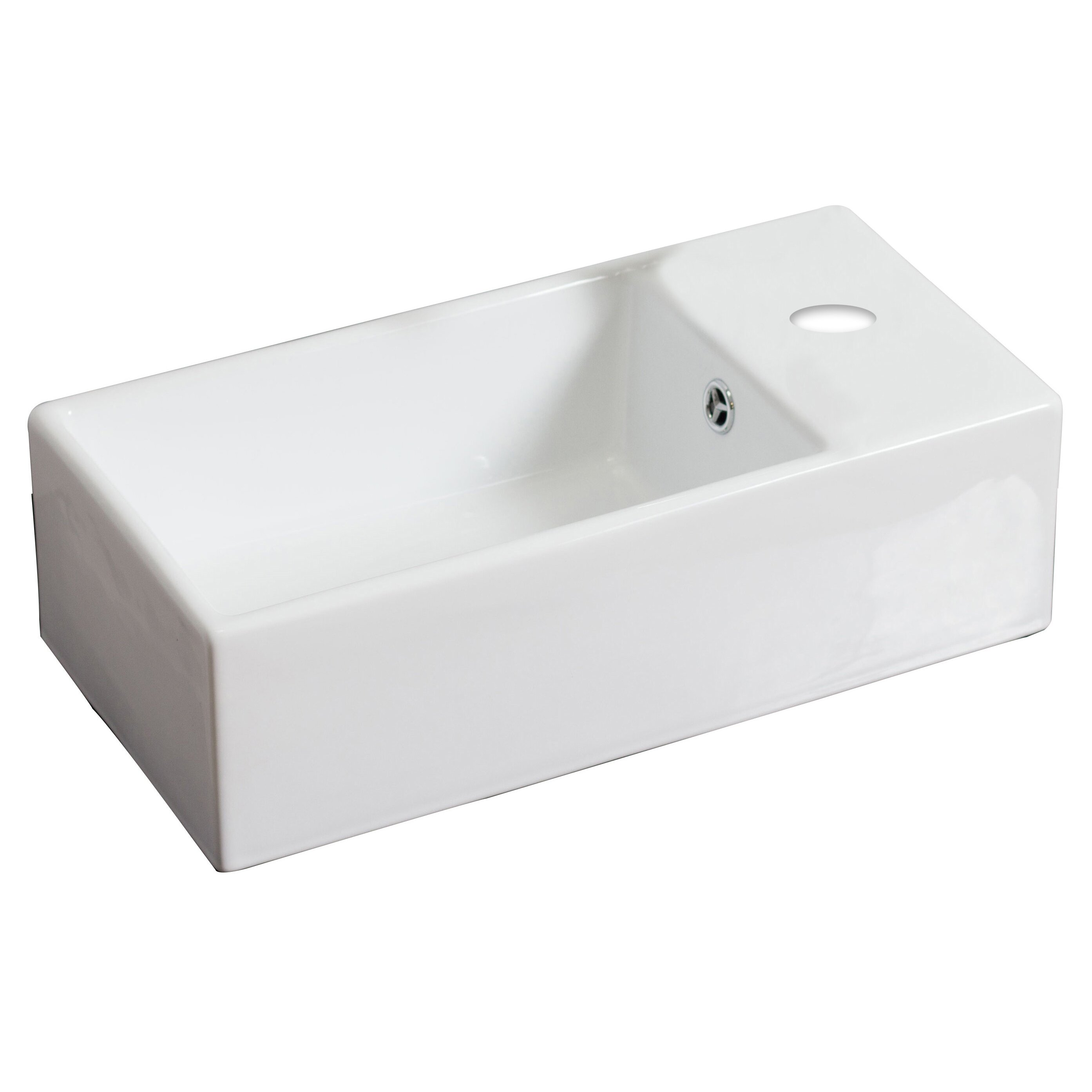 Rectangular Vessel Sink With Overflow : Rectangle Vessel Sink with Overflow by American Imaginations